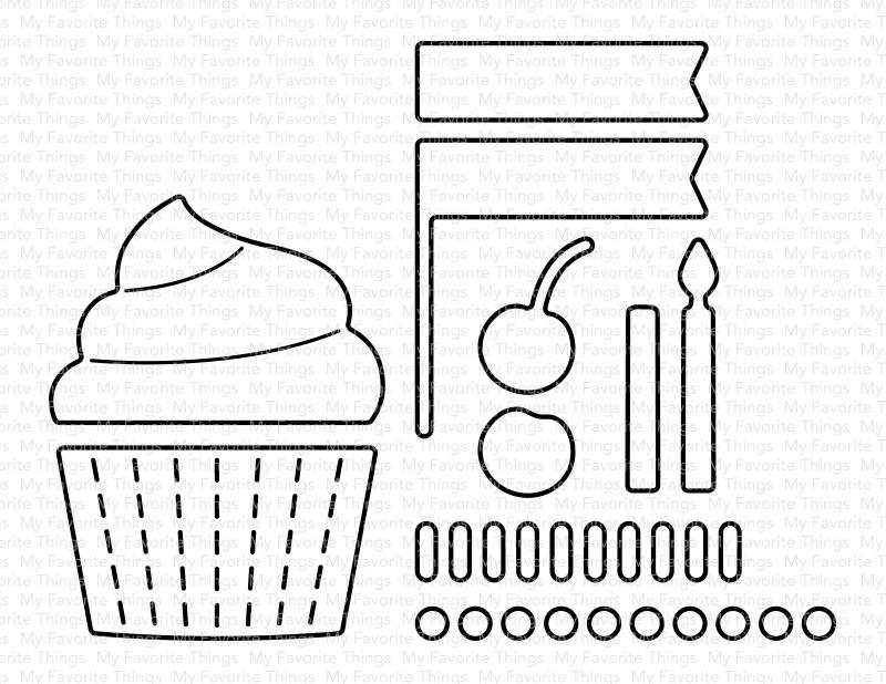 My Favorite Things Die-namics Die-Mini Cupcake Maker