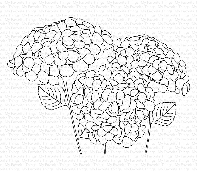 My Favorite Things Clear Stamps 4X5-Hydrangeas In Bloom