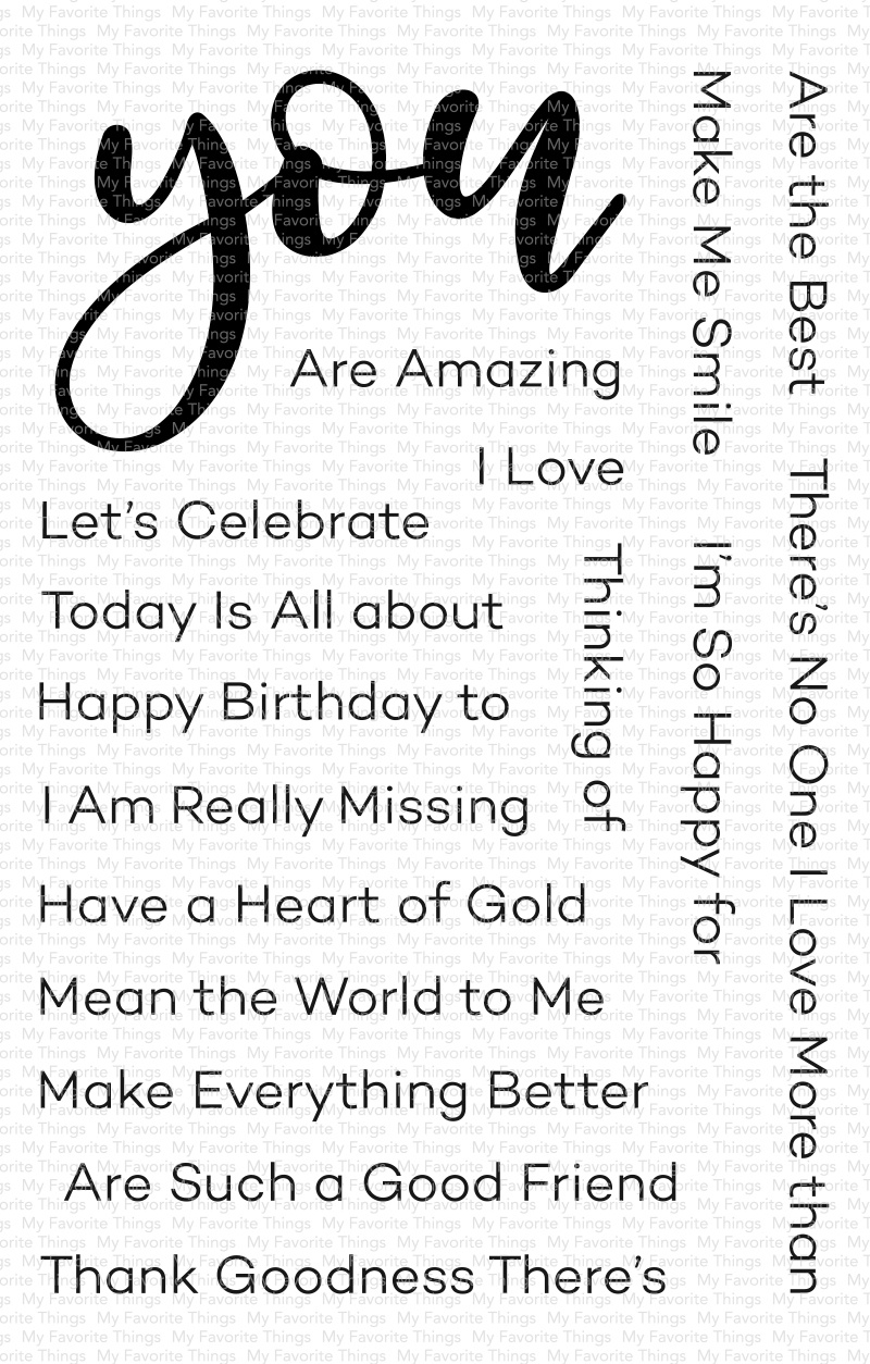 My Favorite Things Clear Stamps 4X6-All About You
