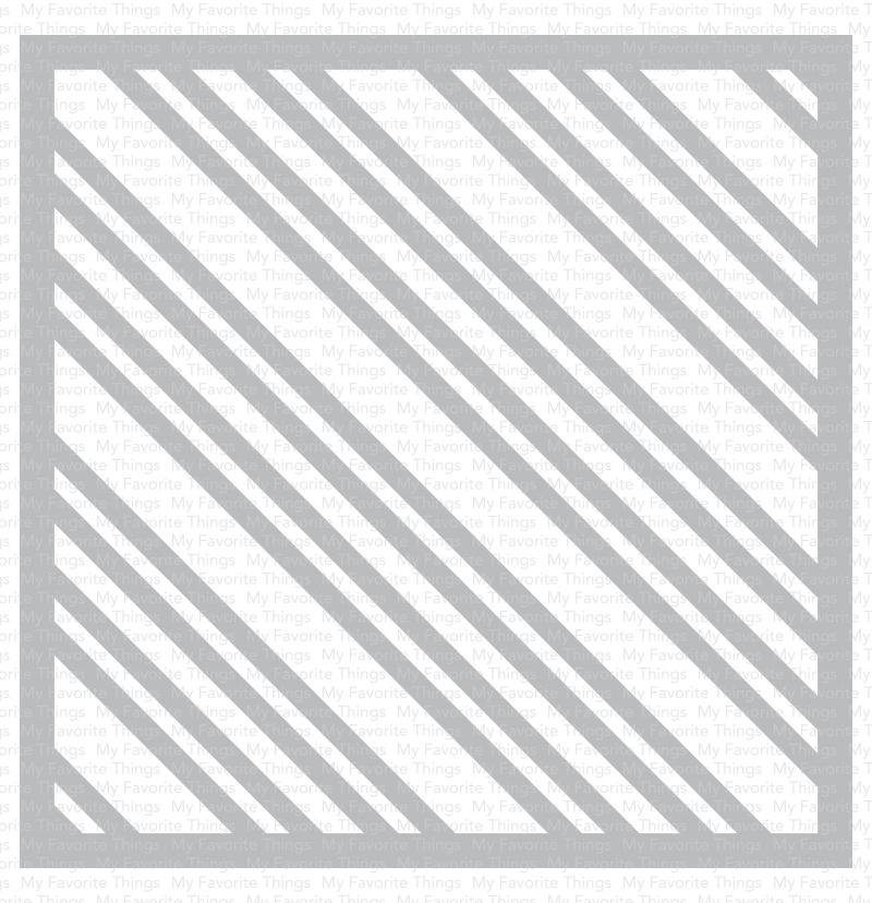 My Favorite Things Premium Stencil 6X6-Candy Stripes