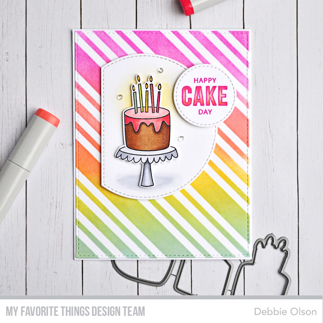 My Favorite Things Premium Stencil 6X6-Candy Stripes