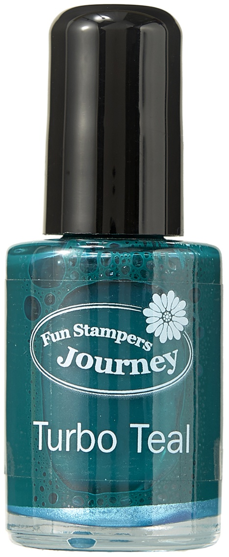 Spellbinders Silks Ink .5oz-Turbo Teal