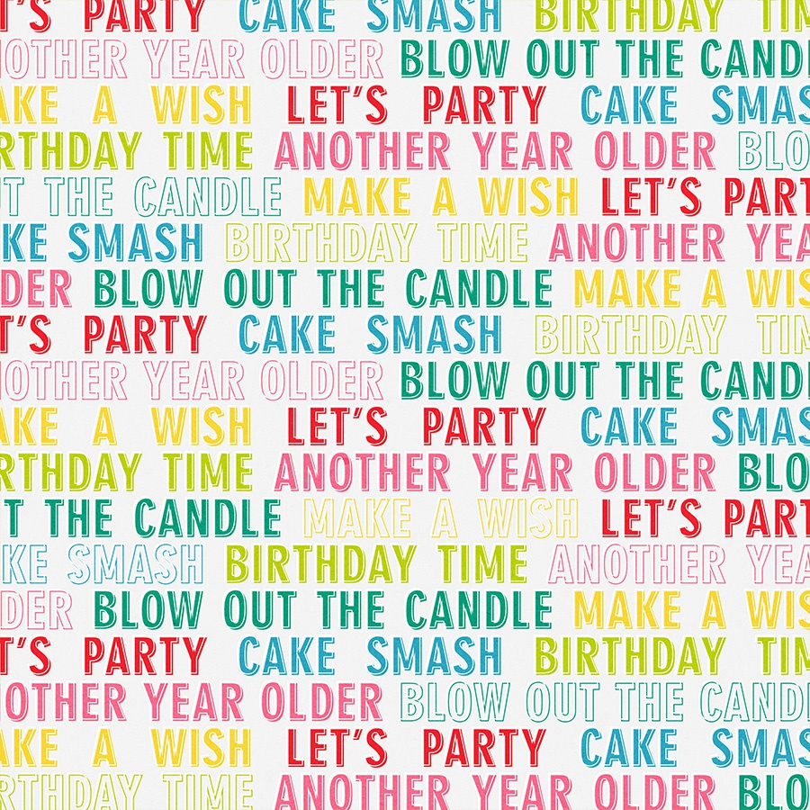 Cake Smash Double-Sided Cardstock 12X12-Birthday Wishes