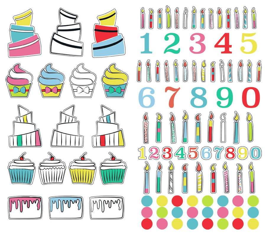 Cake Smash Stickers-Build Your Own Cake