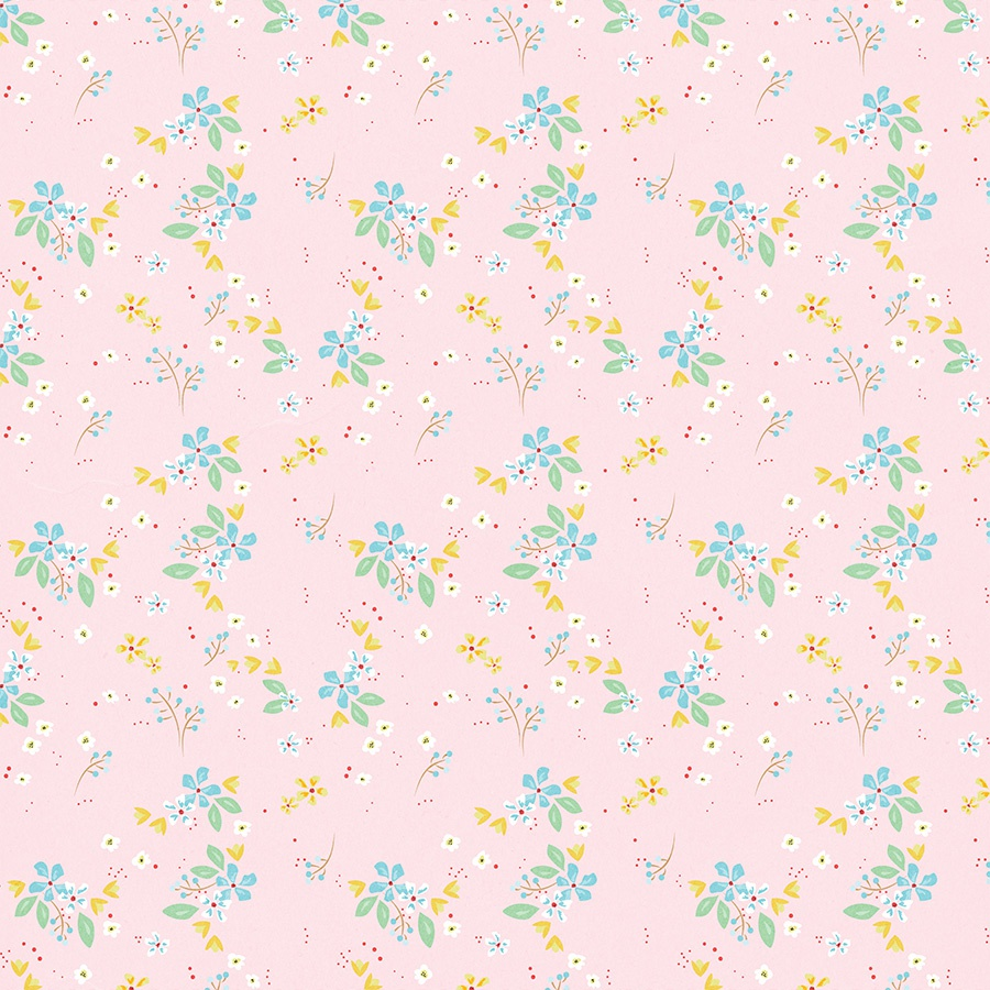 A Cherry On Top Double-Sided Cardstock 12X12-Sweet Floral