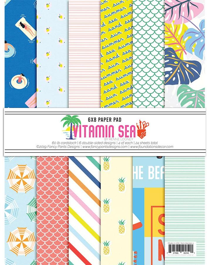 Fancy Pants Designs Double-Sided Paper Pad 6X8 24/Pkg-Vitamin Sea, 6 Designs/4...