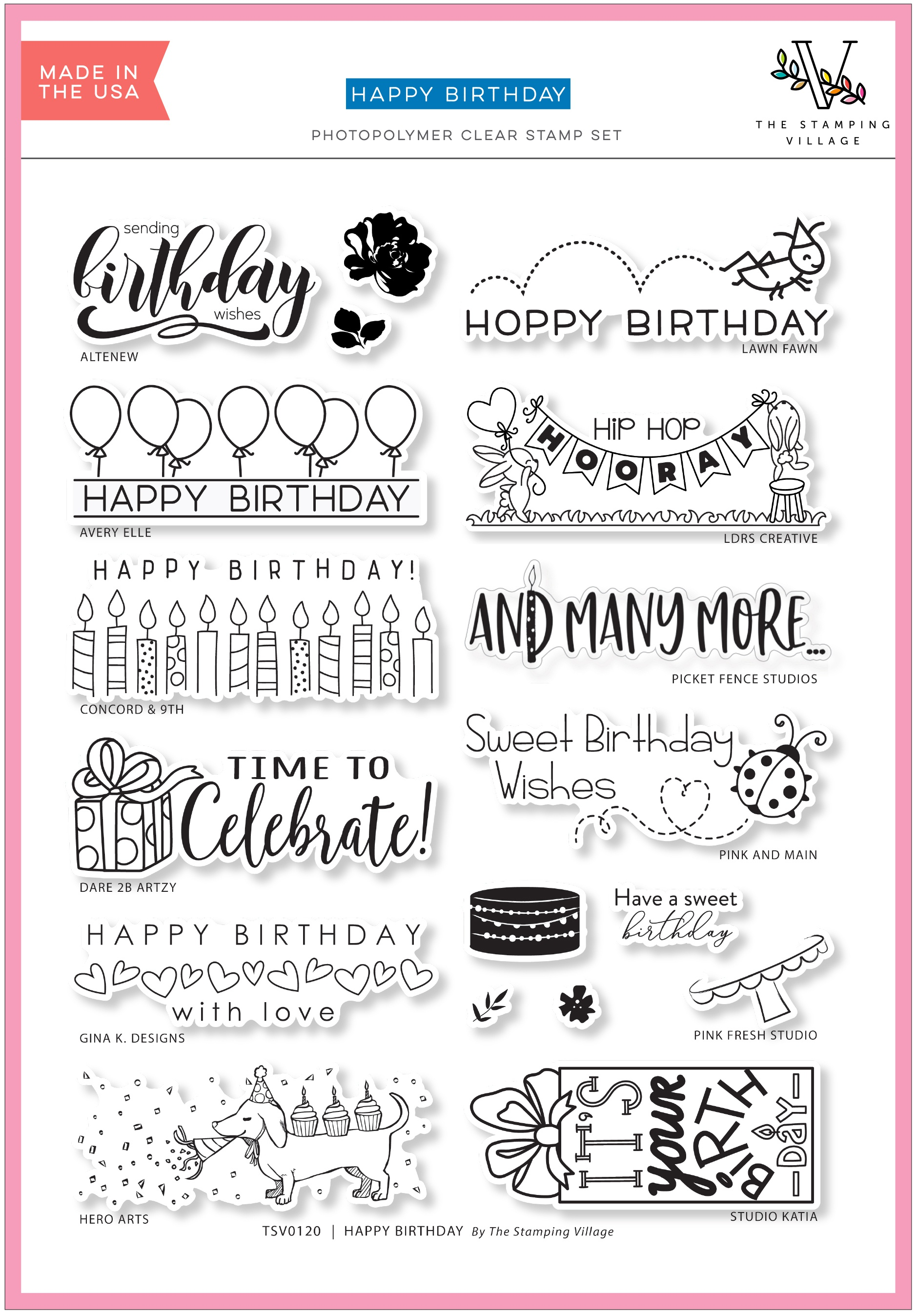 Stamping Village Clear Stamps - Happy Birthday