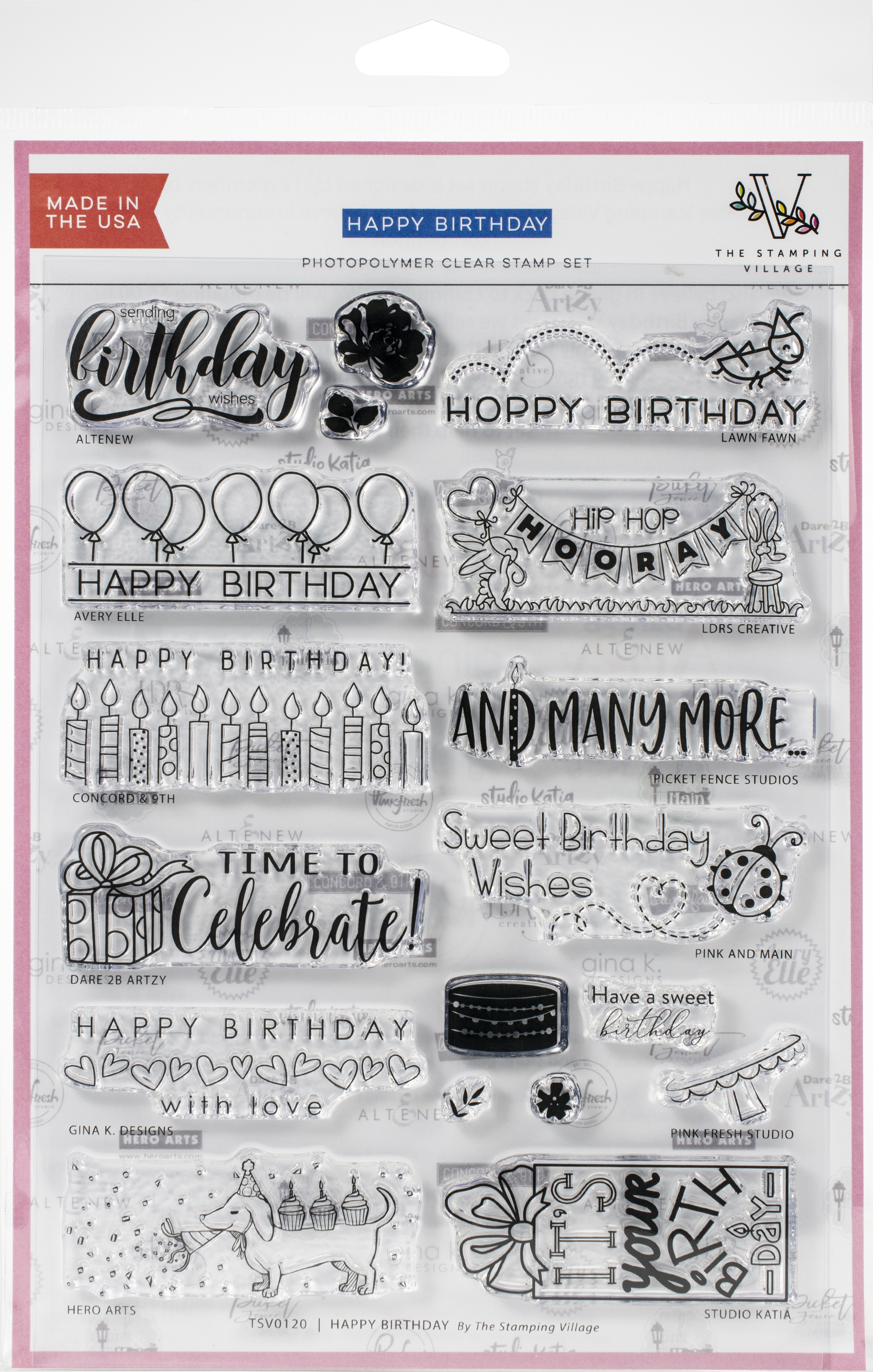Stamping Village Clear Stamps 6X8-Happy Birthday