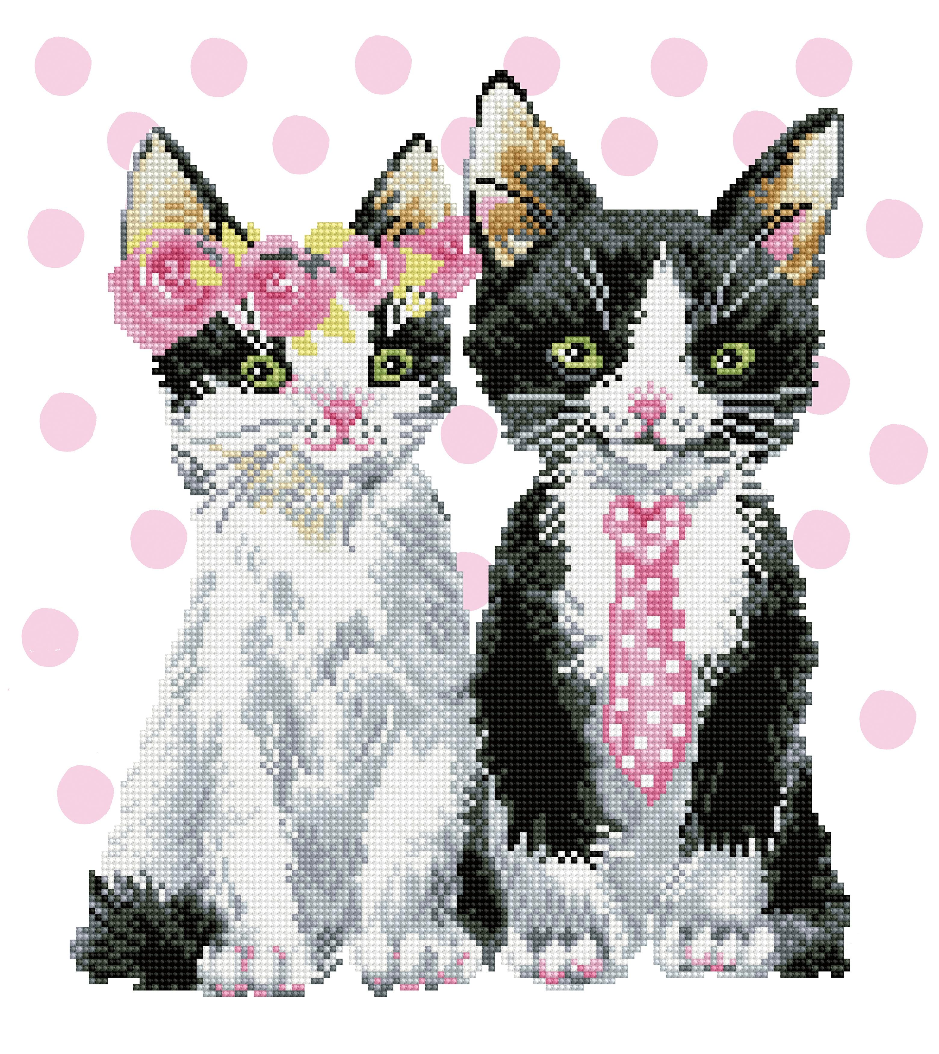 Diamond Dotz Diamond Embroidery Facet Art Kit 16.5X18.5-Mr. & Mrs. Pink