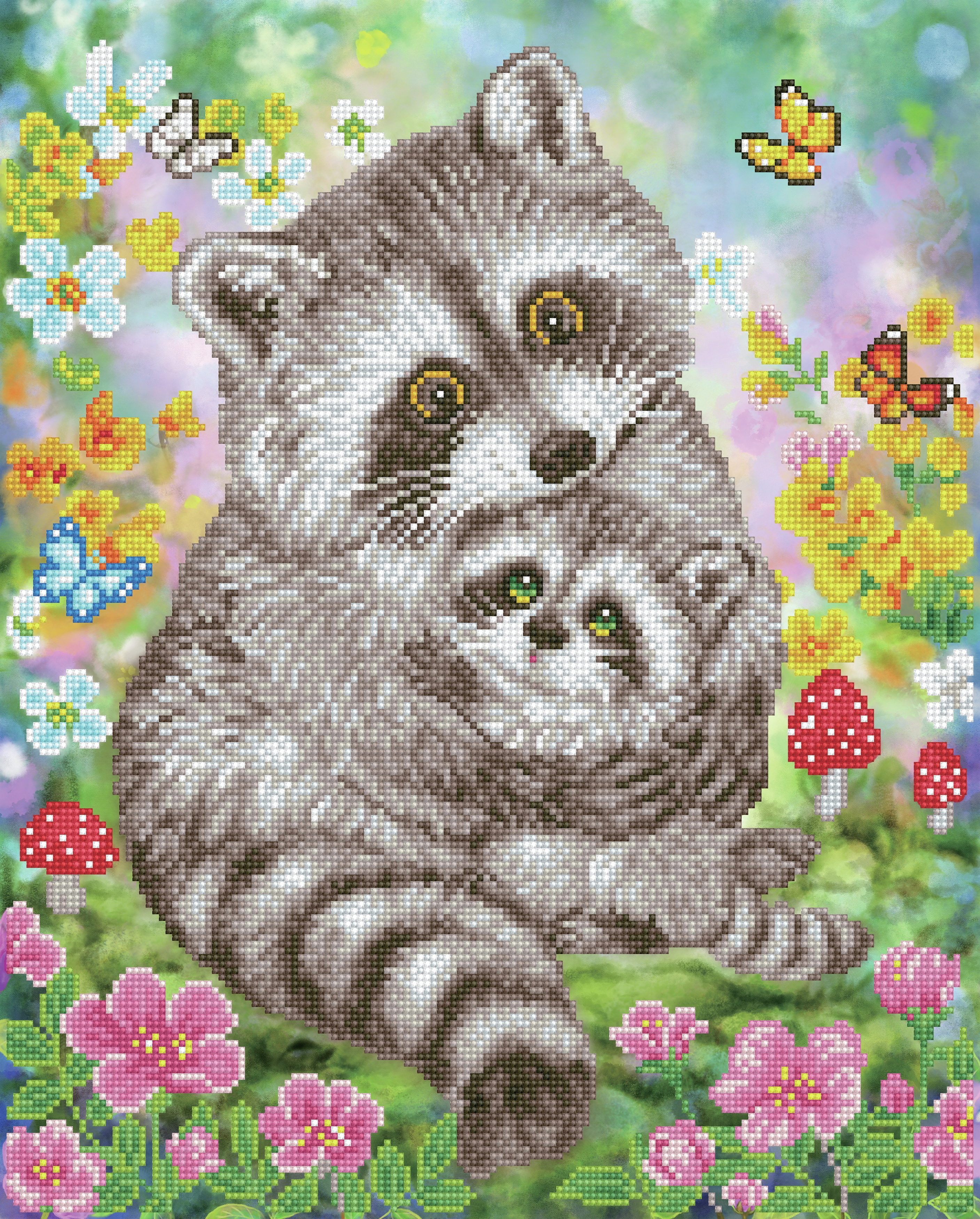 Diamond Dotz Diamond Embroidery Facet Art Kit 16.5X20.5-Sweet Raccoons