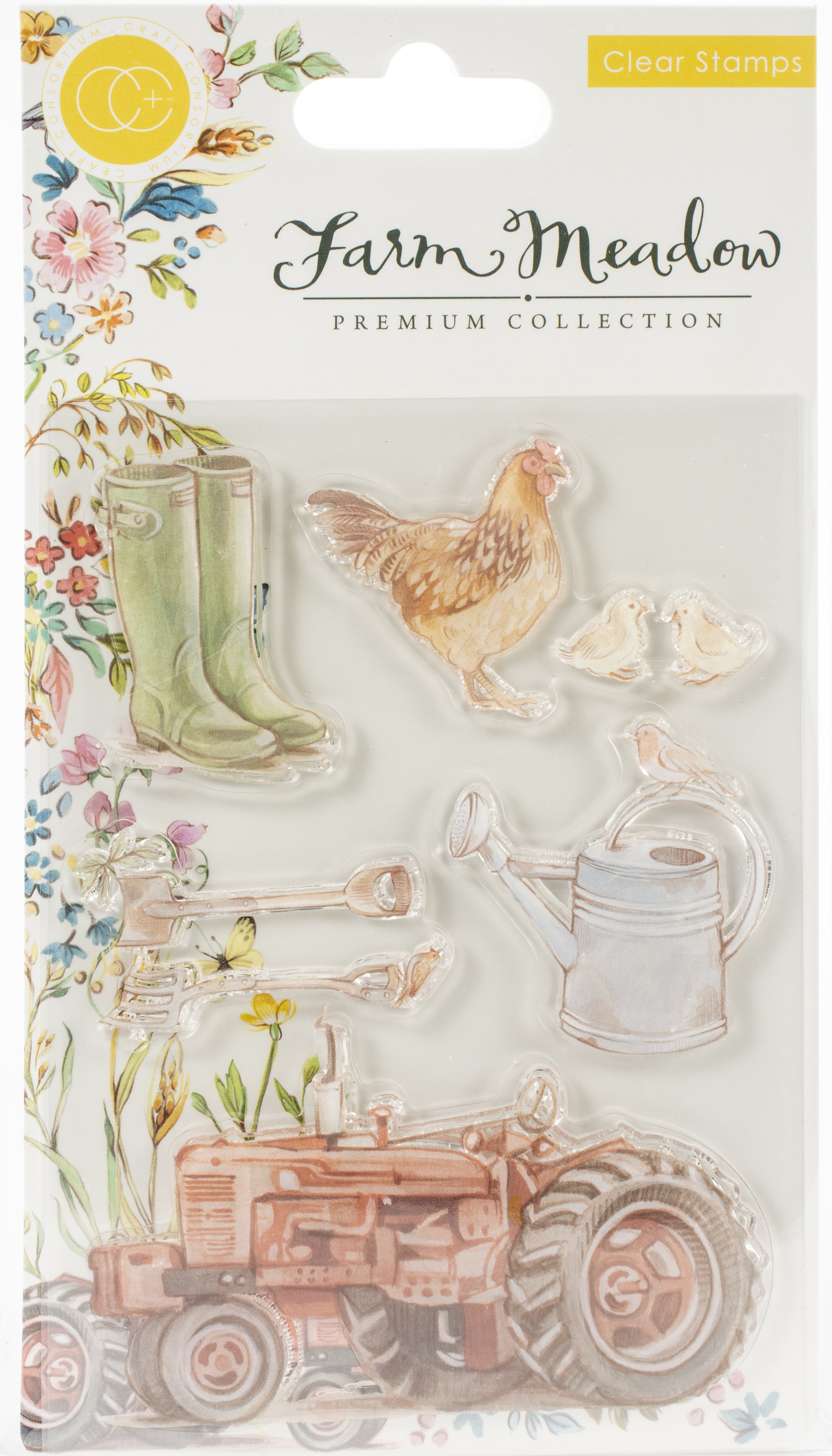 Craft Consortium A5 Clear Stamps-Farm Meadow By Clare Therese Gray