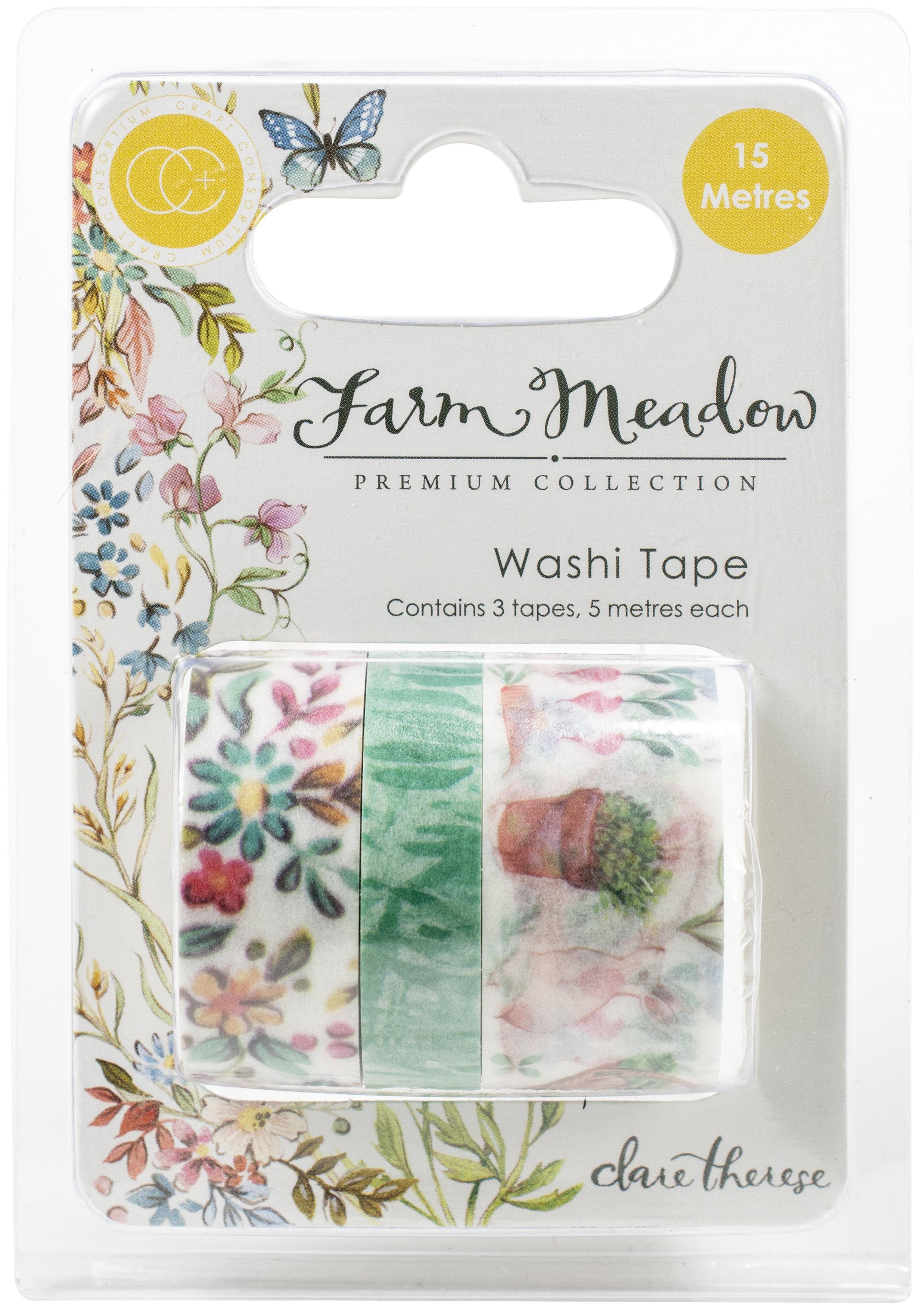 Farm Meadow Washi Tape 3/Pkg