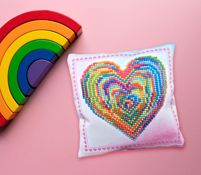 Diamond Dotz Diamond Embroidery Mini Pillows 7X7-Love Rest