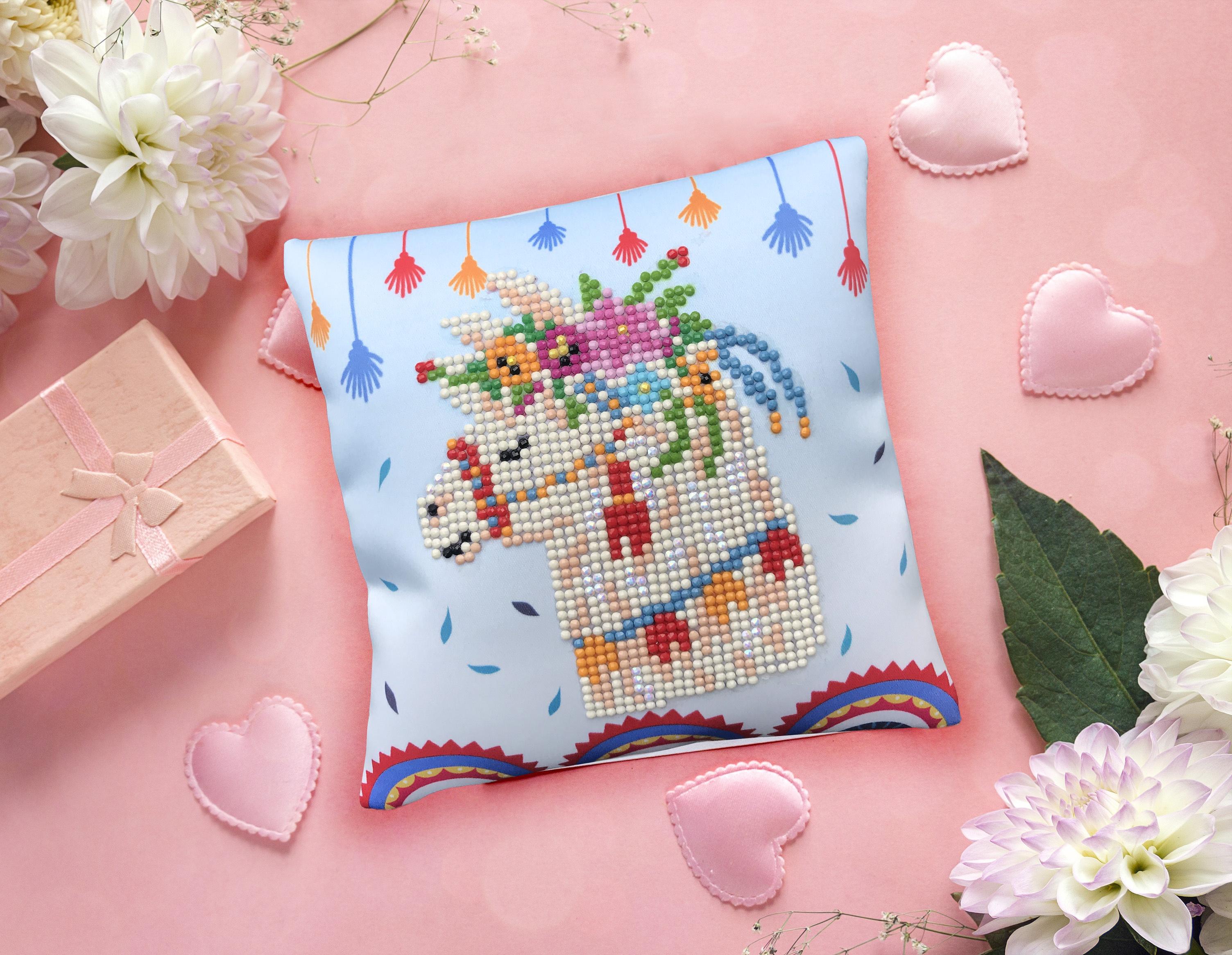 Diamond Dotz Diamond Embroidery Mini Pillows 7X7-Llama Party