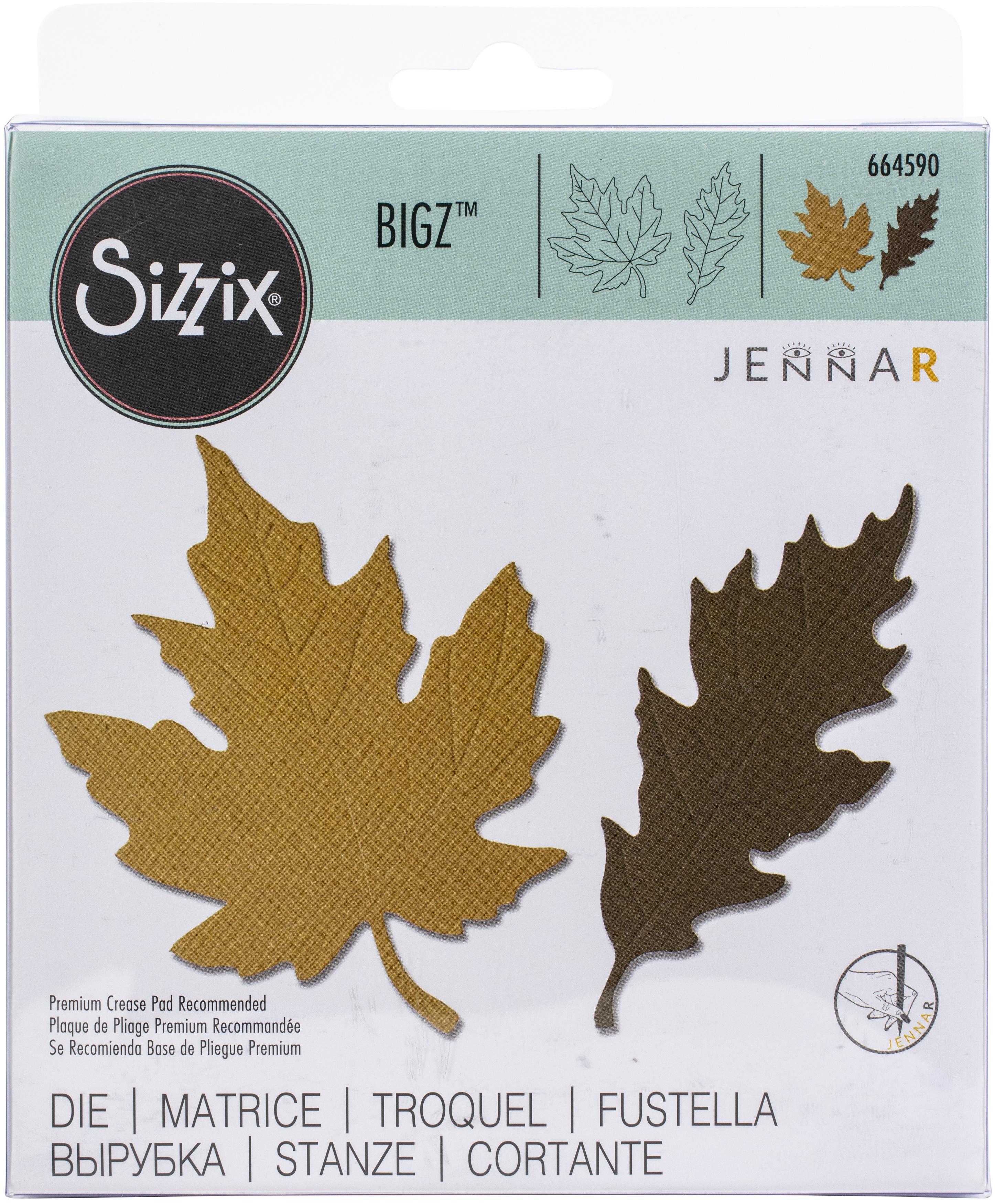 Sizzix Bigz Die By Jenna Rushforth-Autumnal Leaves
