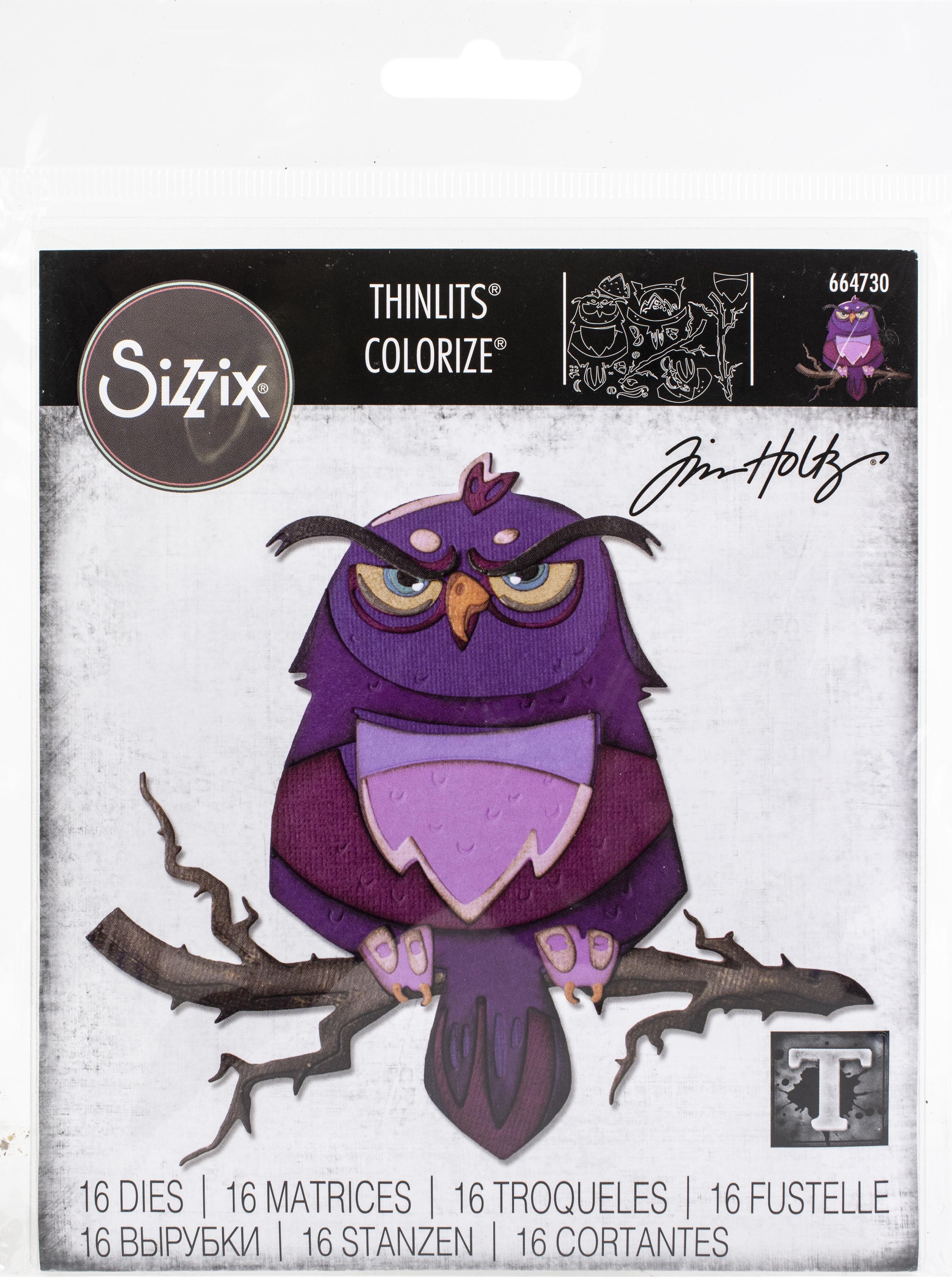 Sizzix Thinlits Dies By Tim Holtz - Arthur, Colorize