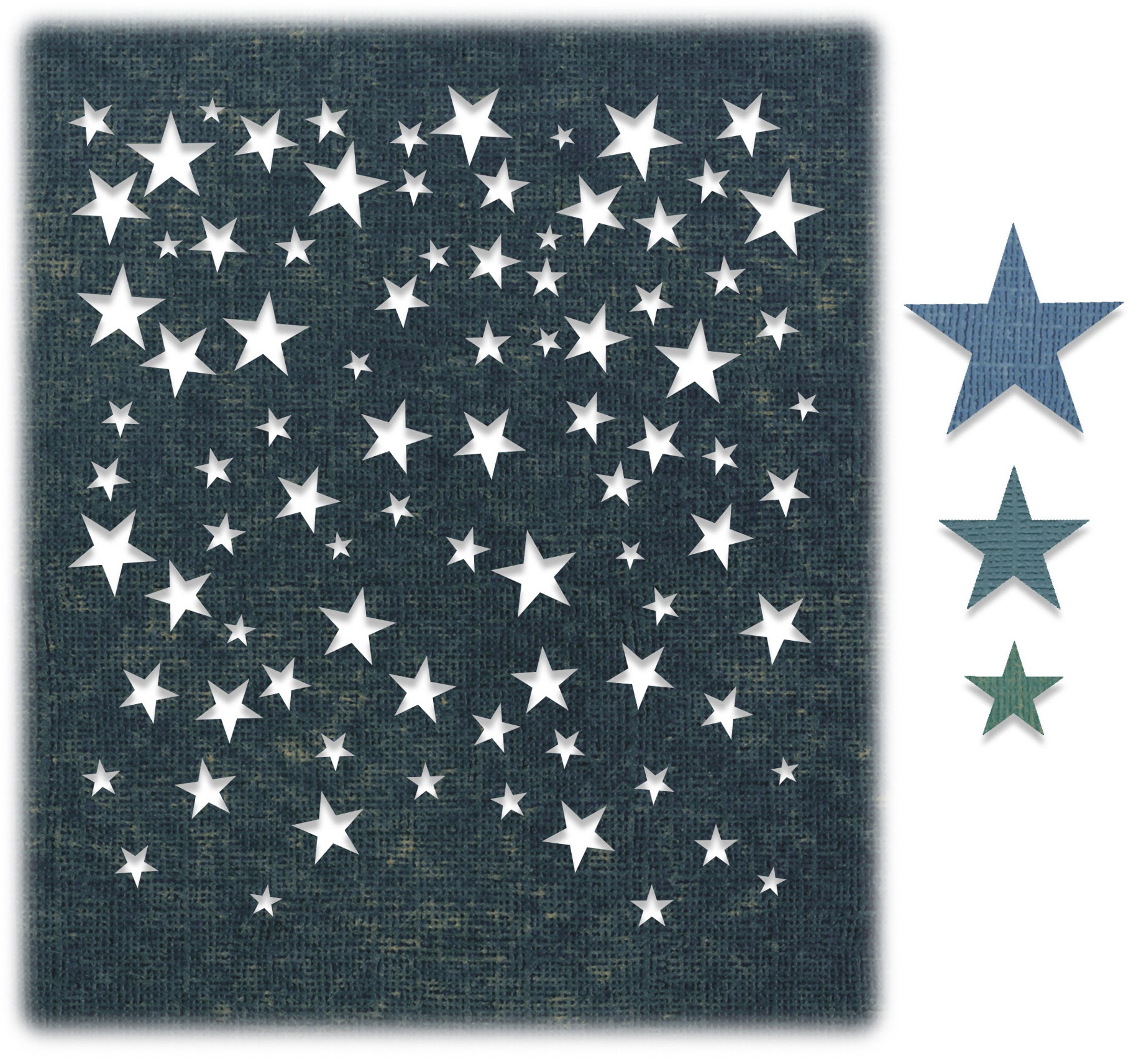 Sizzix Thinlits Dies By Tim Holtz 4/Pkg-Falling Stars