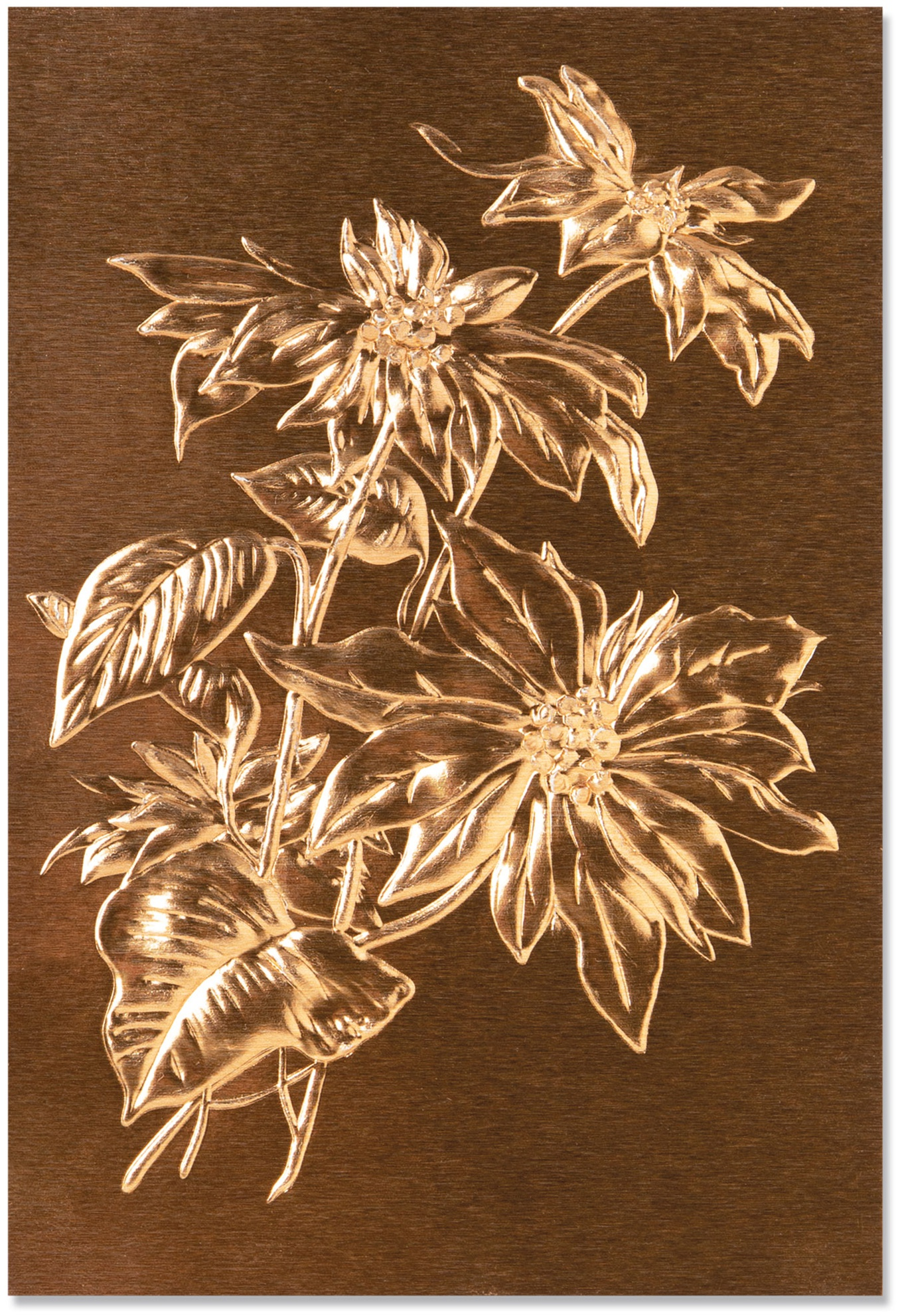 Sizzix Texture Fades Embossing Folder By Tim Holtz-Poinsettia