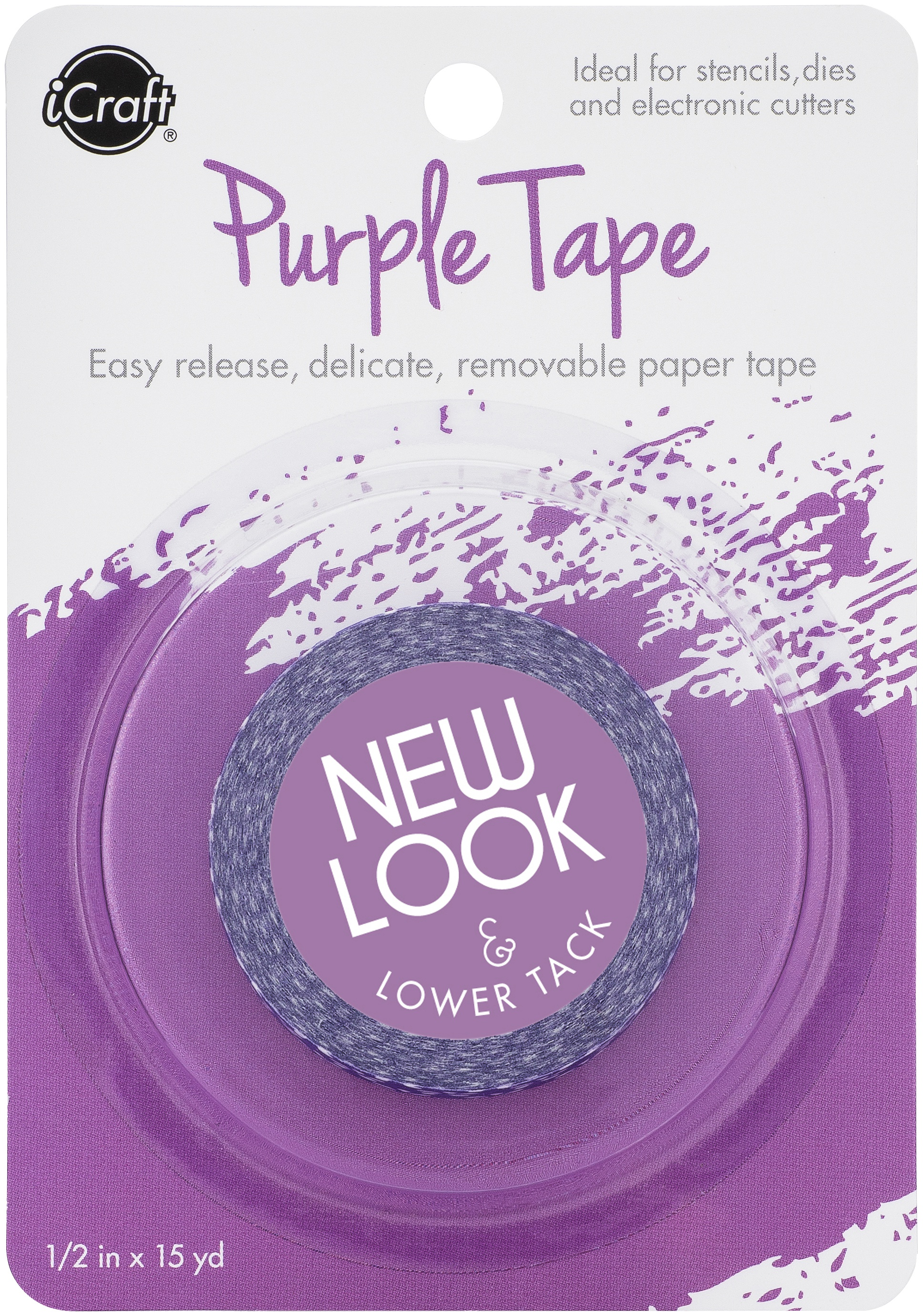 iCraft Removable Purple Tape .5X15yd Roll-