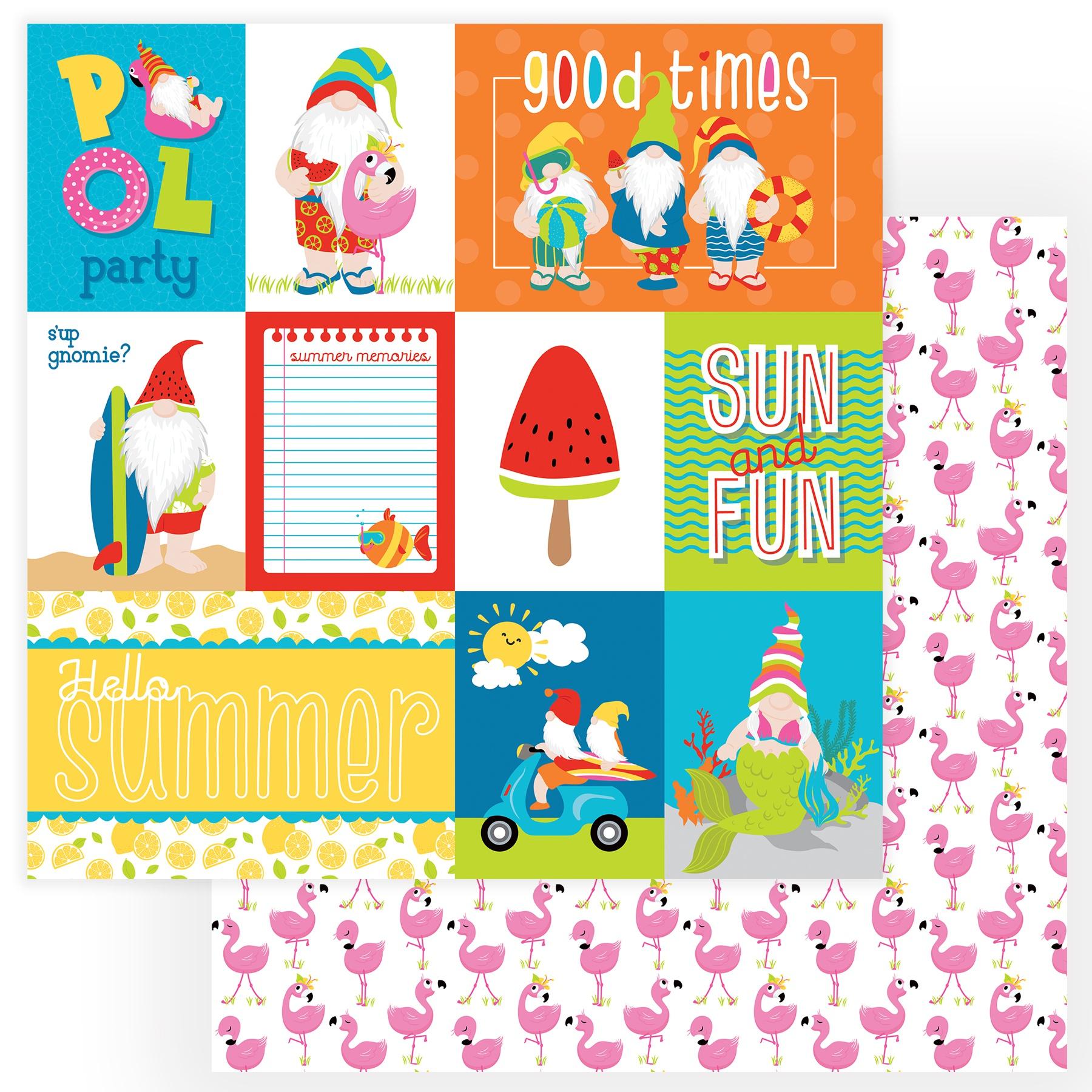 Tulla & Norbert's Excellent Adventure Cardstock 12X12-Good Times