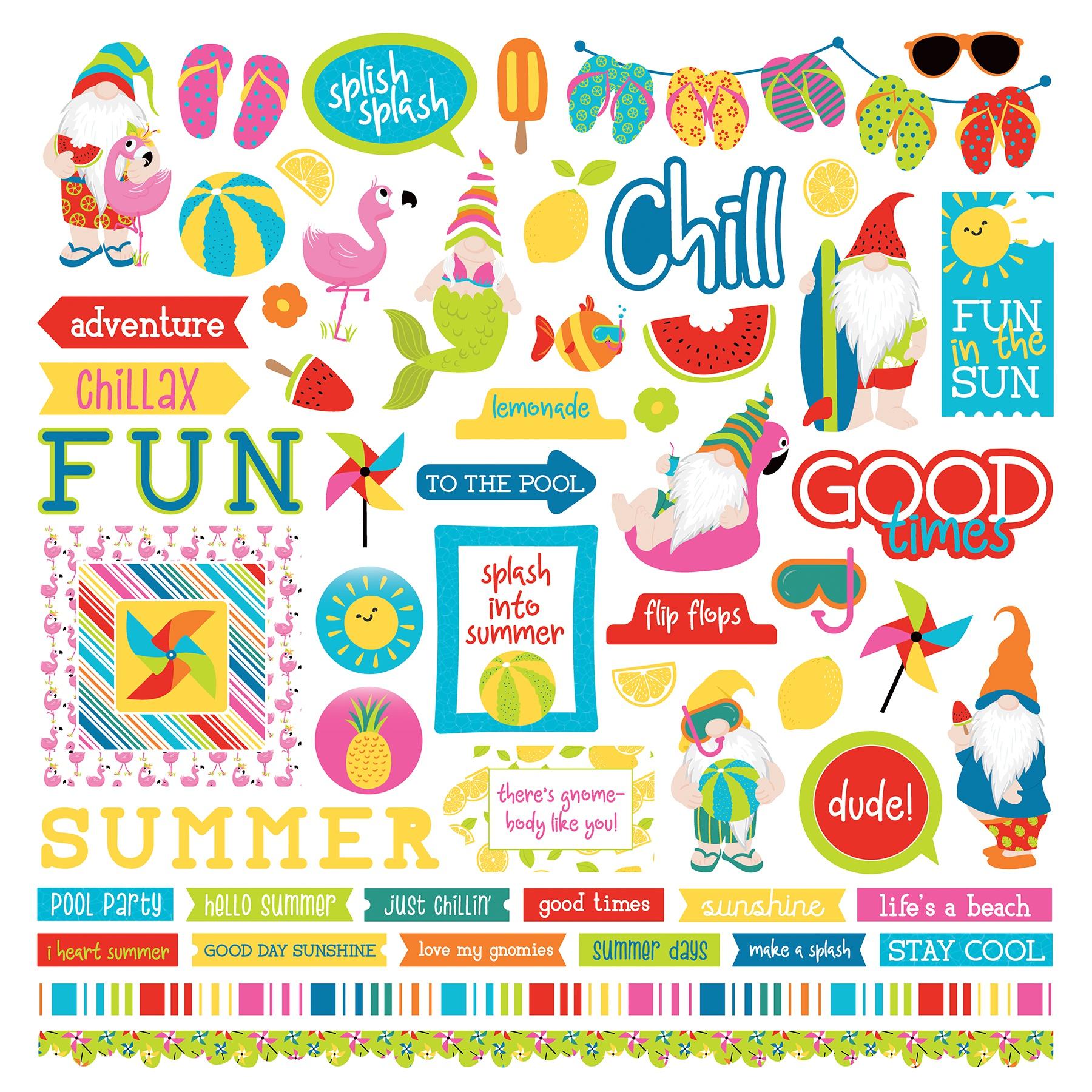 Tulla & Norbert's Excellent Adventure Stickers 12X12-Elements Photo Play