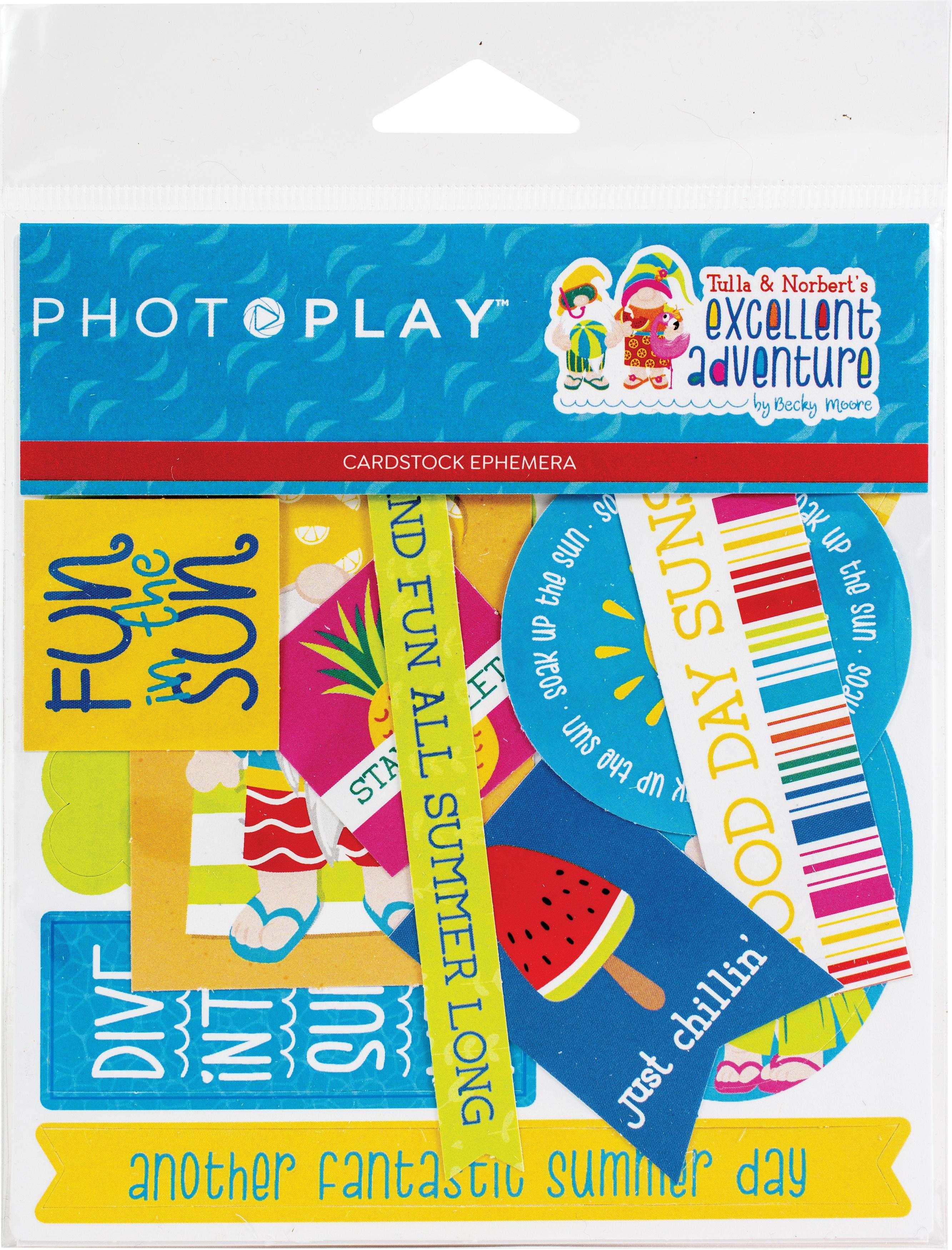 Tulla & Norbert's Excellent Adventure Cardstock Die-Cuts- Photo Play