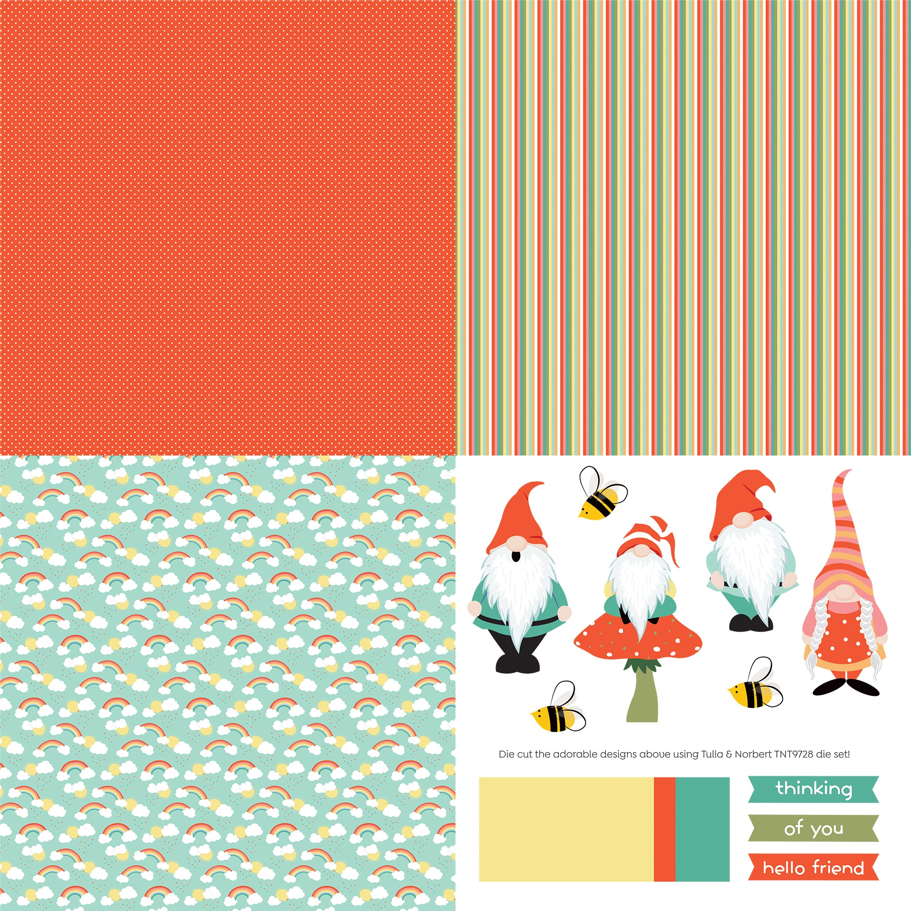 Tulla & Norbert Double-Sided Cardstock 12X12-Quad #1