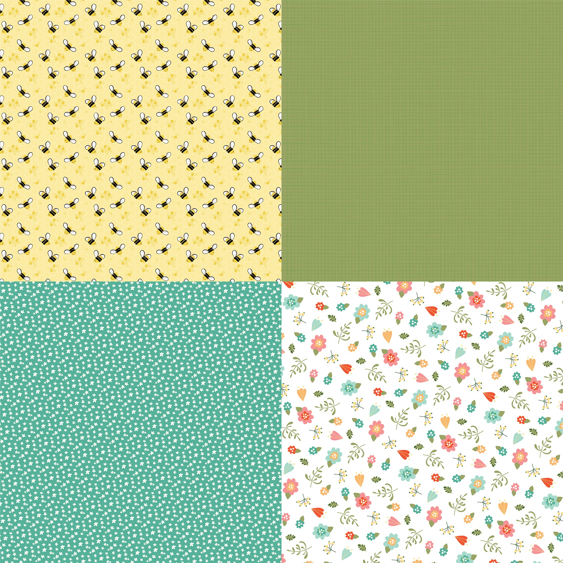 Tulla & Norbert Double-Sided Cardstock 12X12-Quad #2