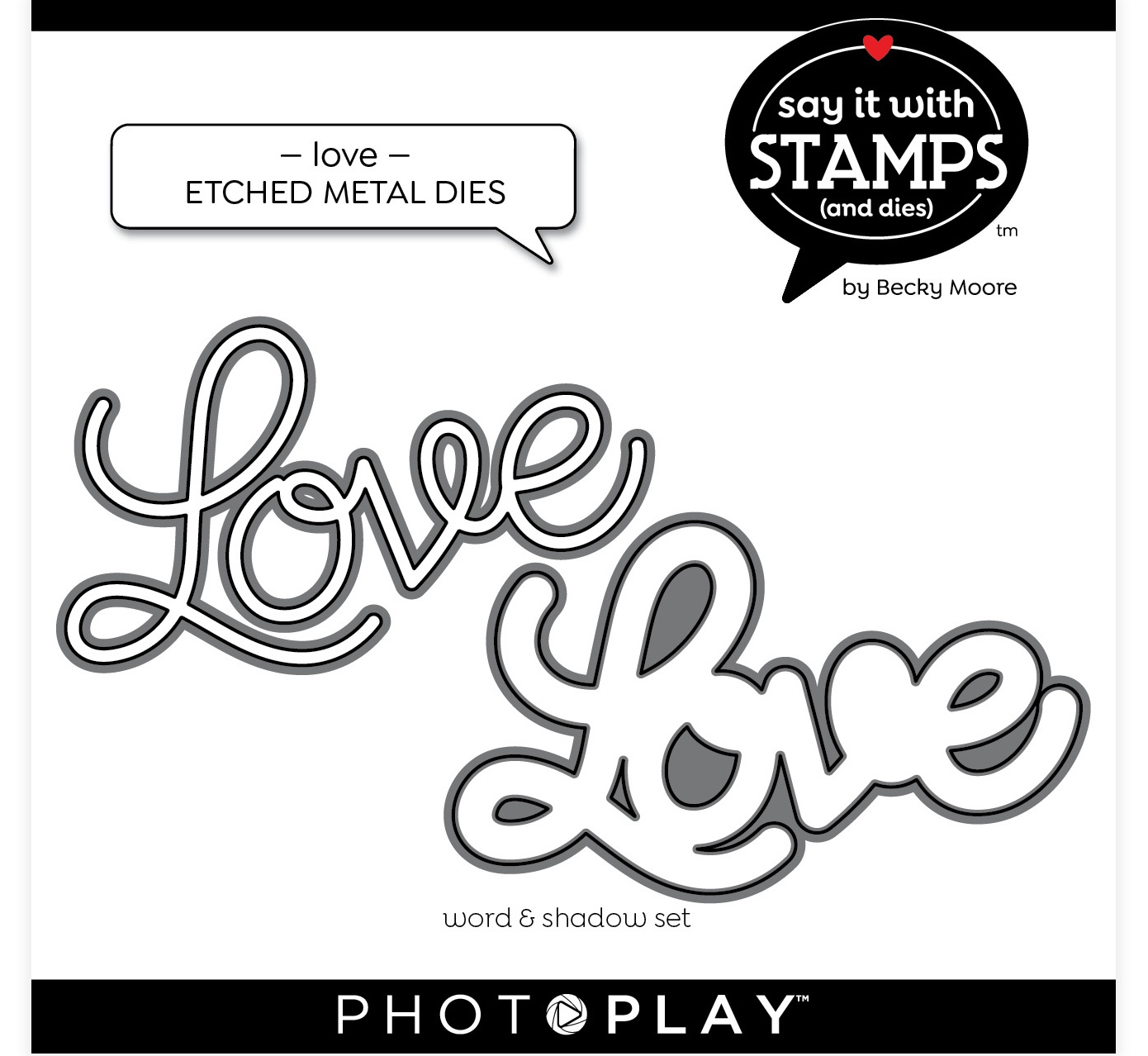 PhotoPlay Say It With Stamps Die Set-Love