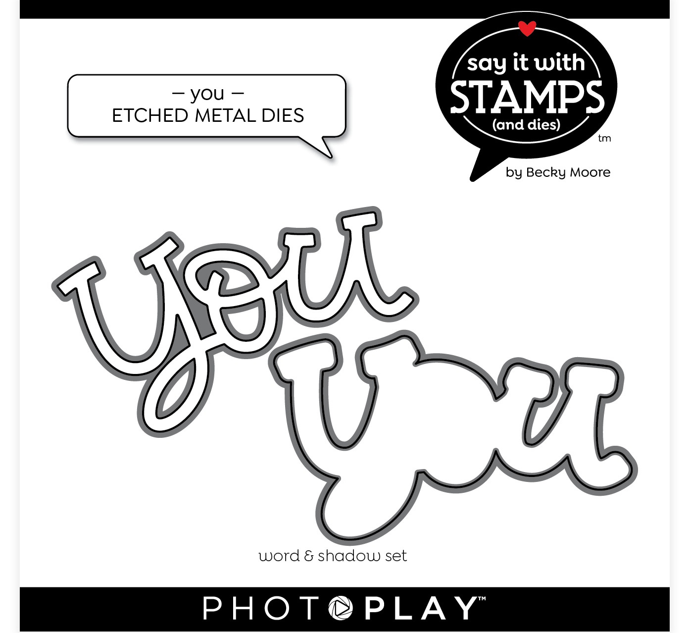 PhotoPlay Say It With Stamps Die Set - You