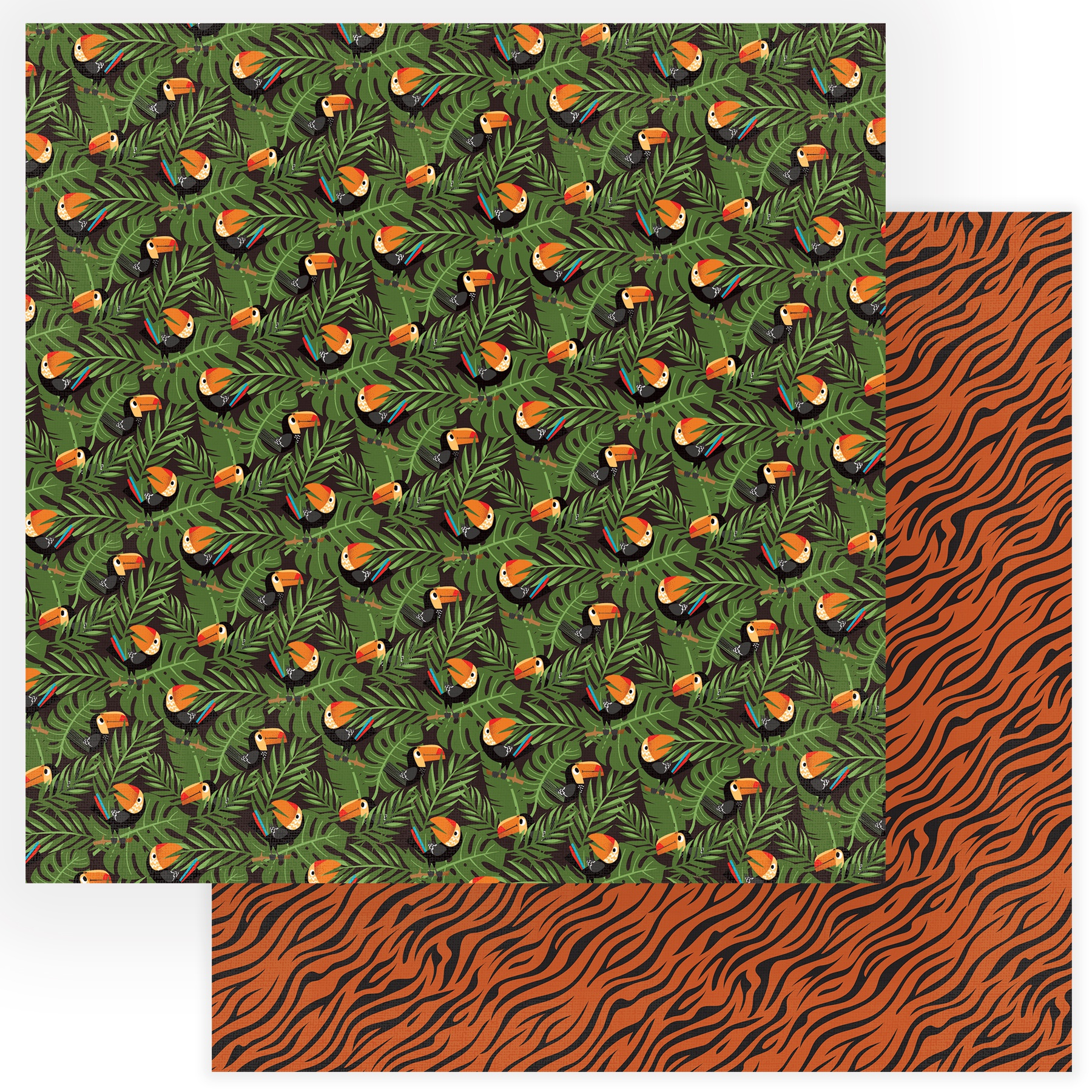 A Walk On The Wild Side Double-Sided Cardstock 12X12-Go Wild