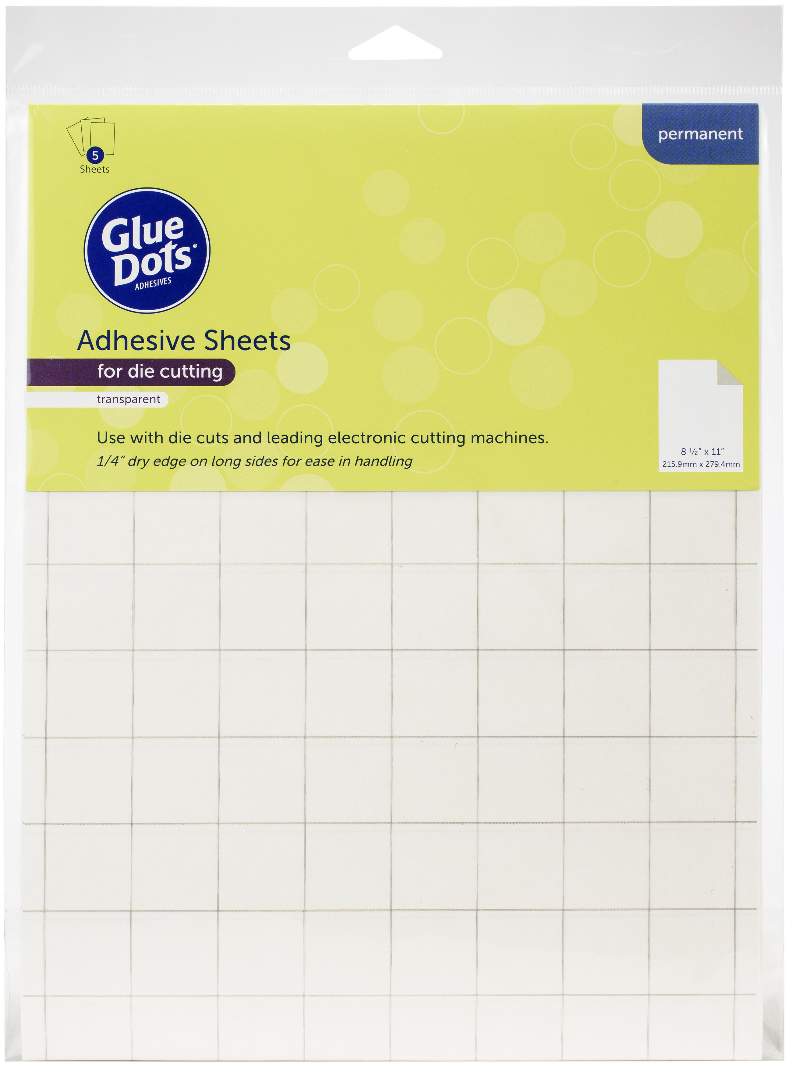 Glue Dots Adhesive Sheets 8.5X11 5/Pkg-