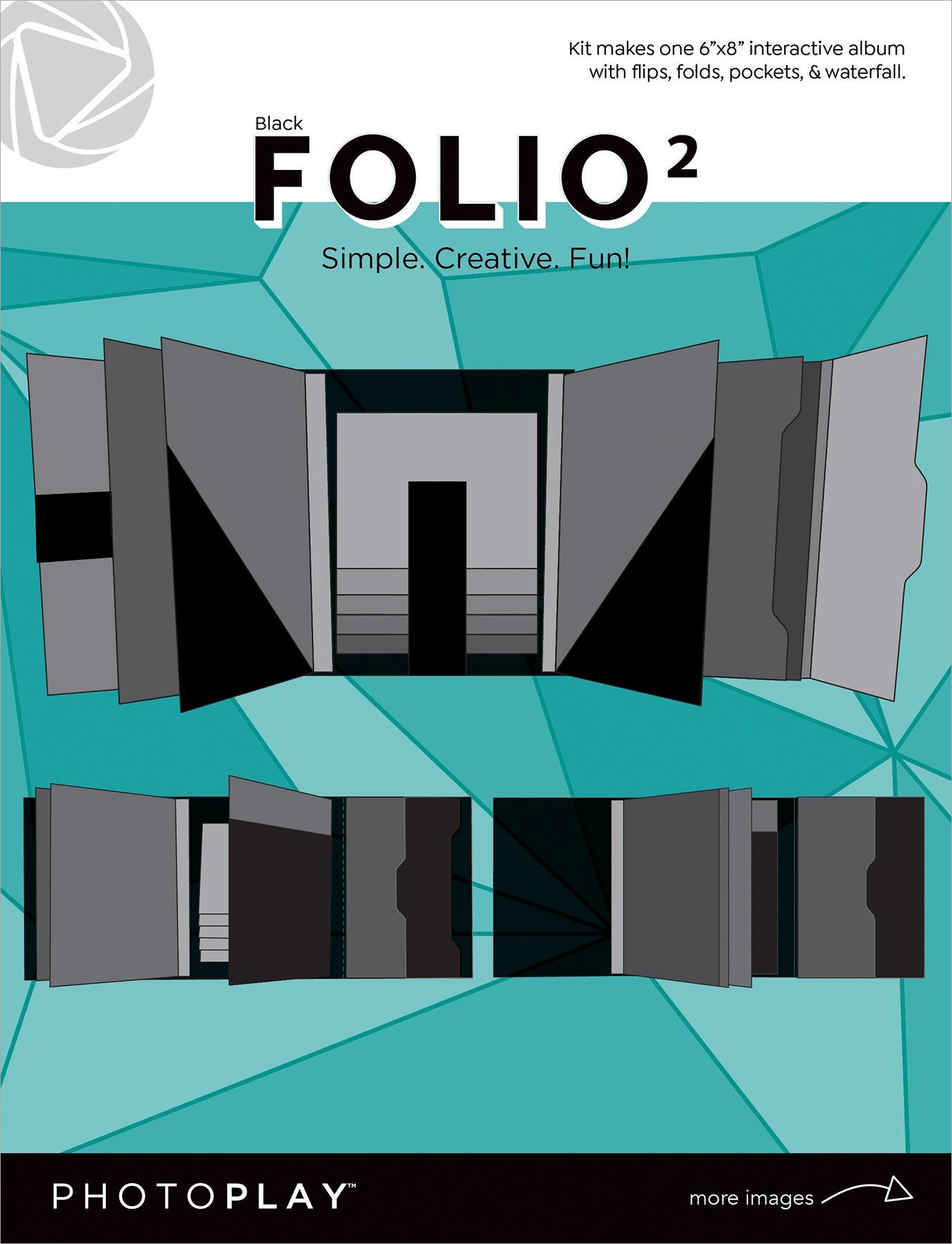 PhotoPlay Folio 2 - Black, 6 x 8