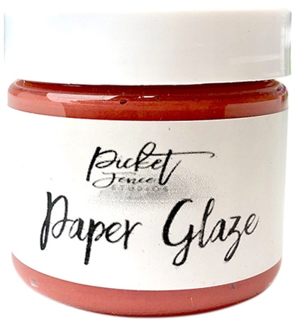 Picket Fence Paper Glaze-Marigold Orange