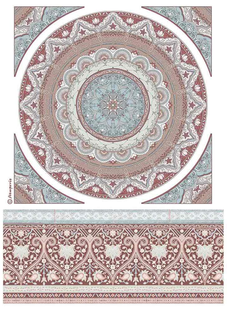 Stamperia Rice Paper Sheet A4-Mandala Lace