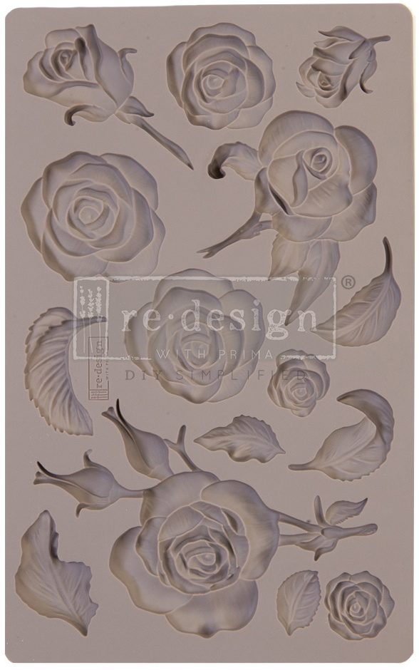 Prima - Re-Design Mould 5X8X8mm - Fragrant Roses