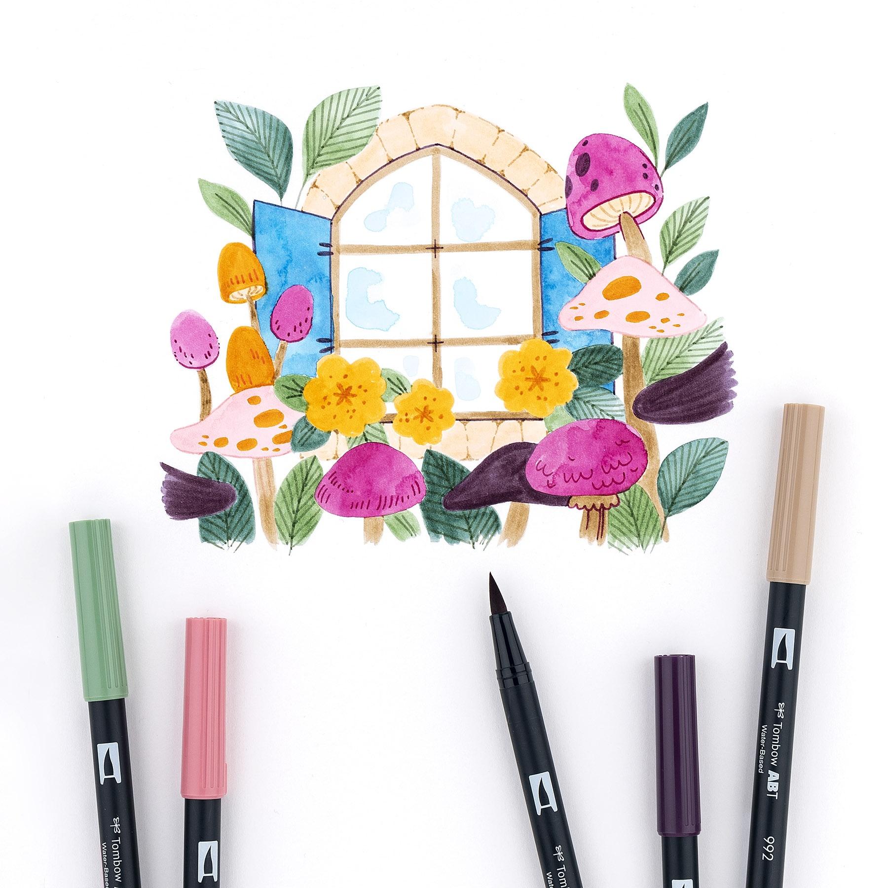 Tombow Dual Brush Pens 10/Pkg - 14 CHOICES