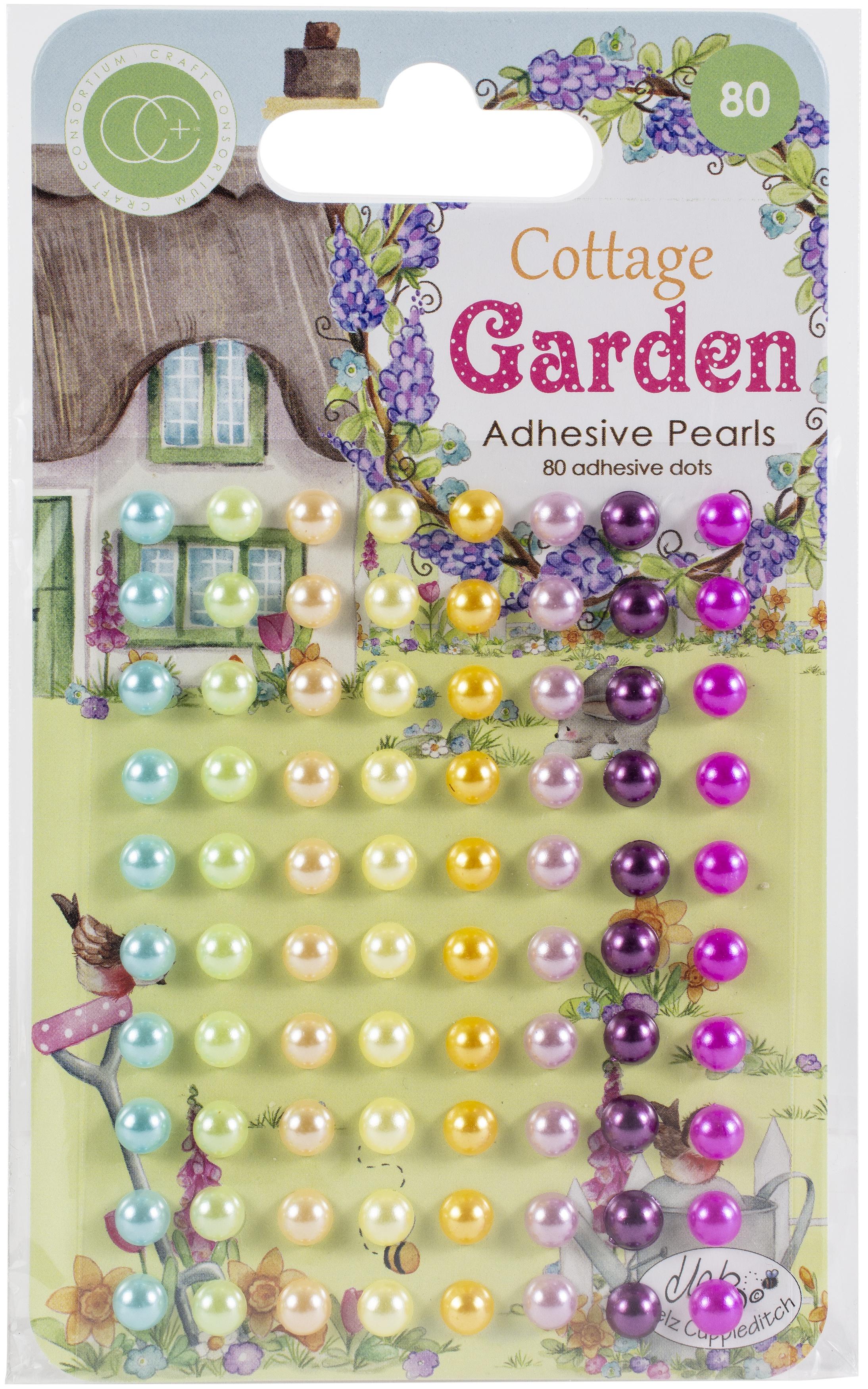 Craft Consortium Adhesive Pearls 80/Pkg-Assorted Colors