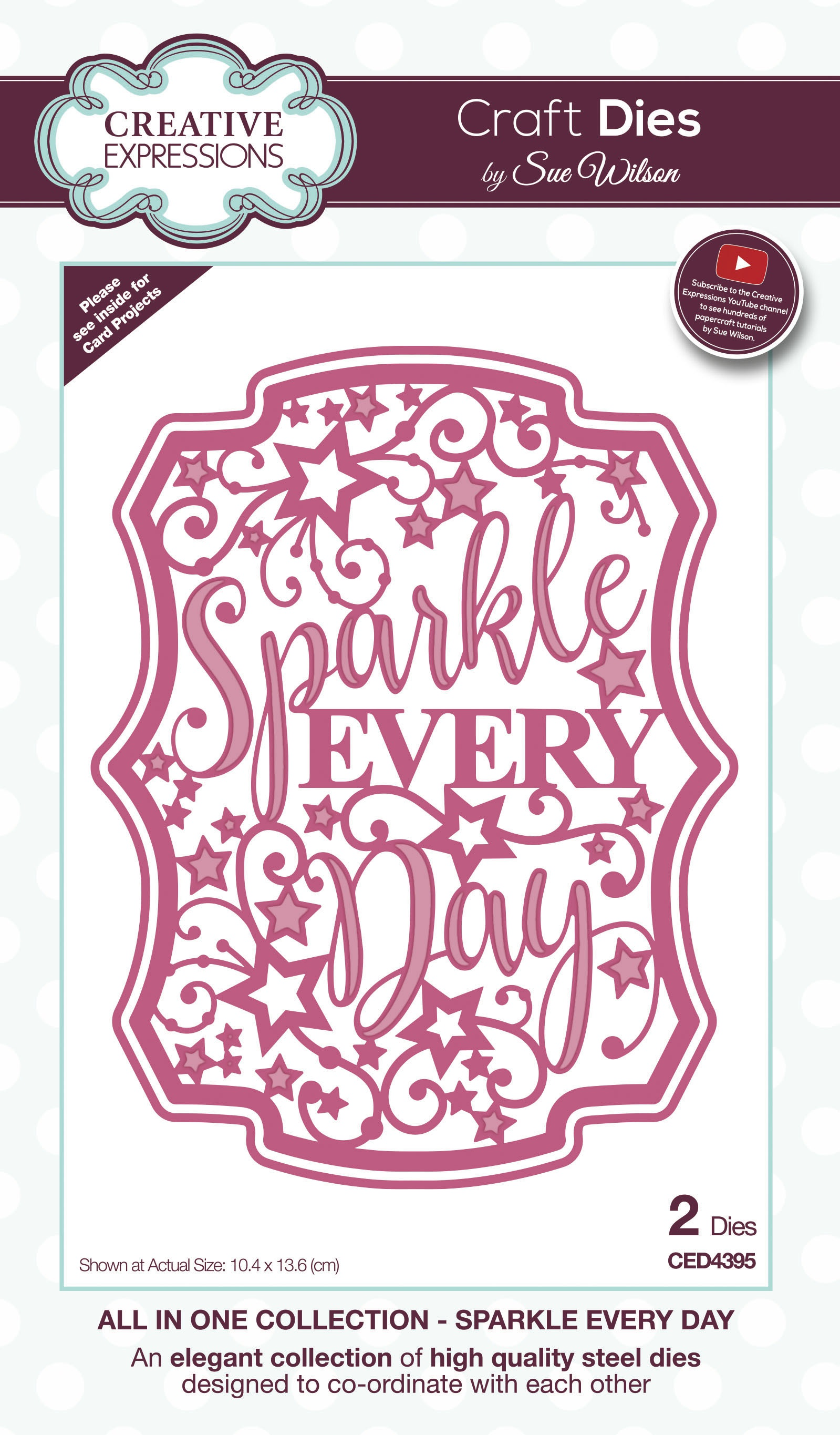 Creative Expressions Craft Dies By Sue Wilson-All In One-Sparkle Every Day