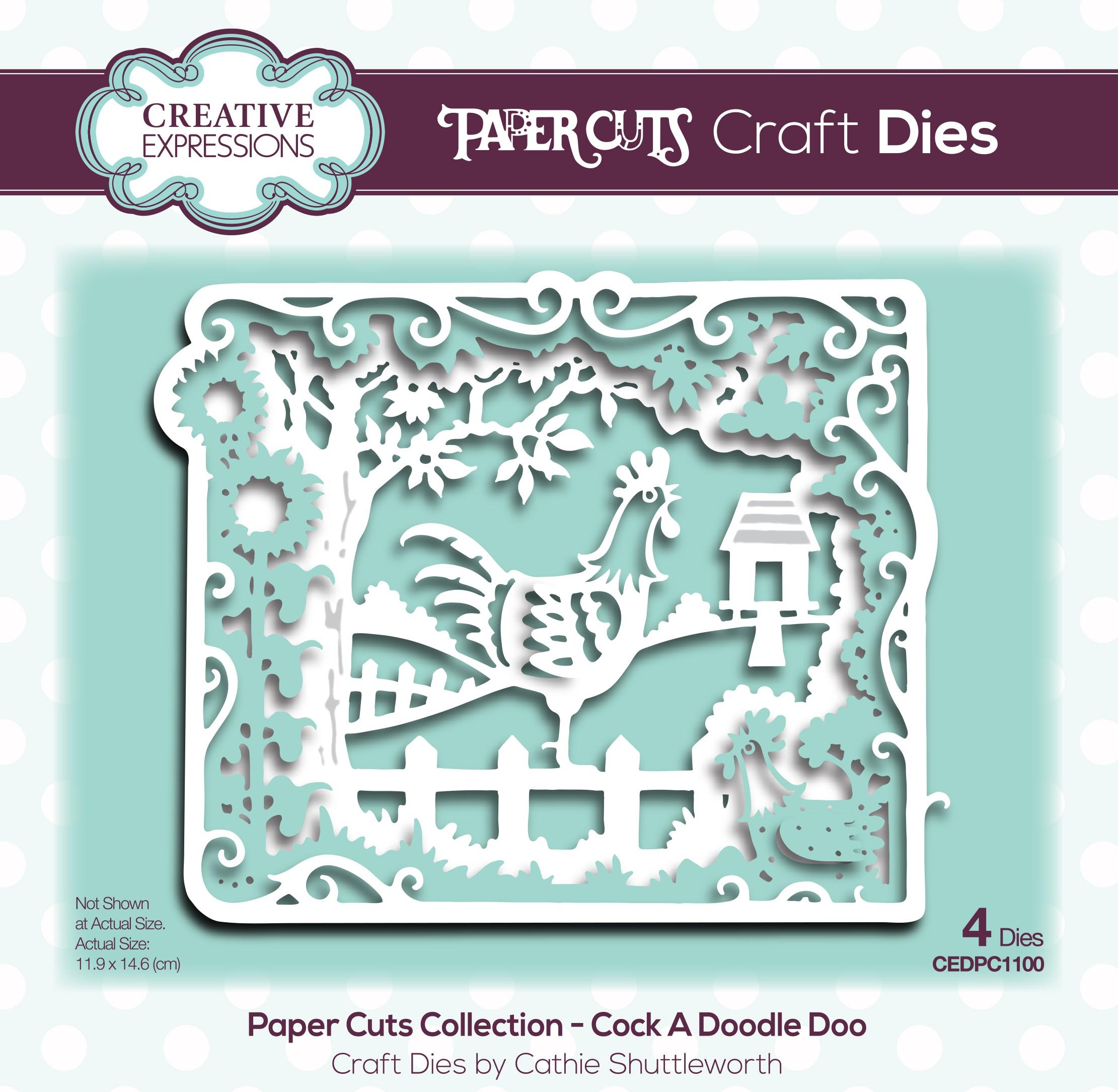 Creative Expressions Paper Cuts Craft Dies-Cock A Doodle Doo