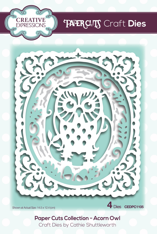 Creative Expressions Paper Cuts Craft Dies-Acorn Owl