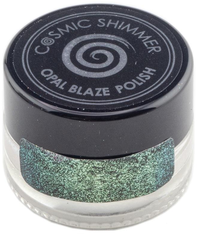 Cosmic Shimmer Opal Blaze Polish - Gilded Avocado