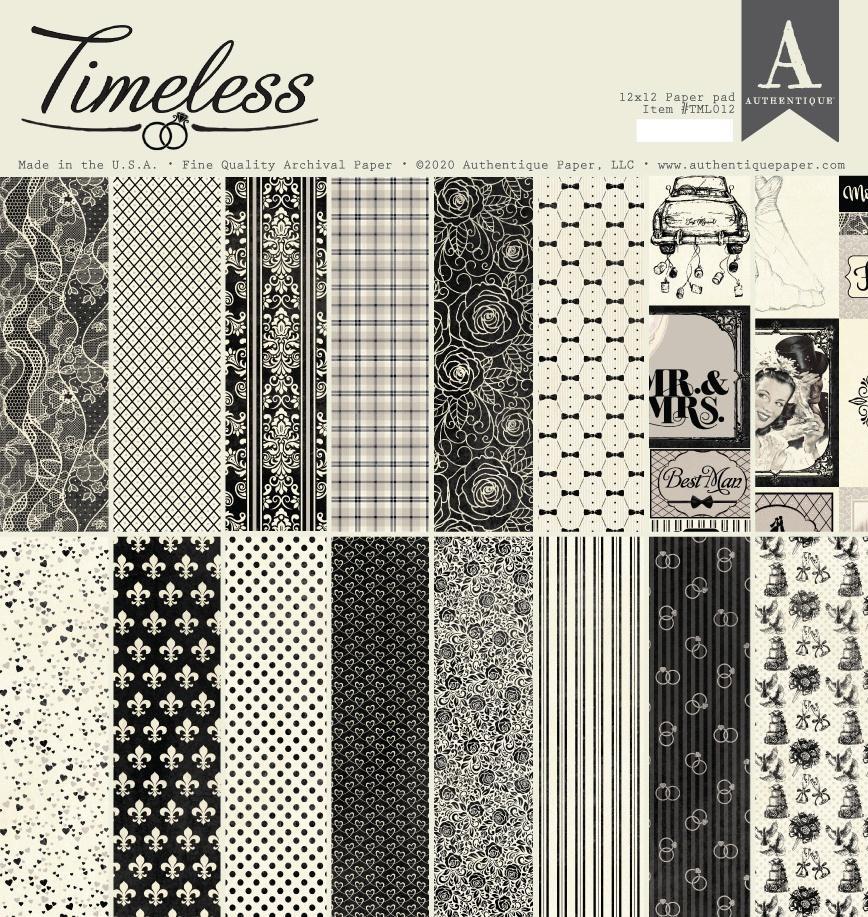 Authentique Timeless - 12x12 Paper Pad