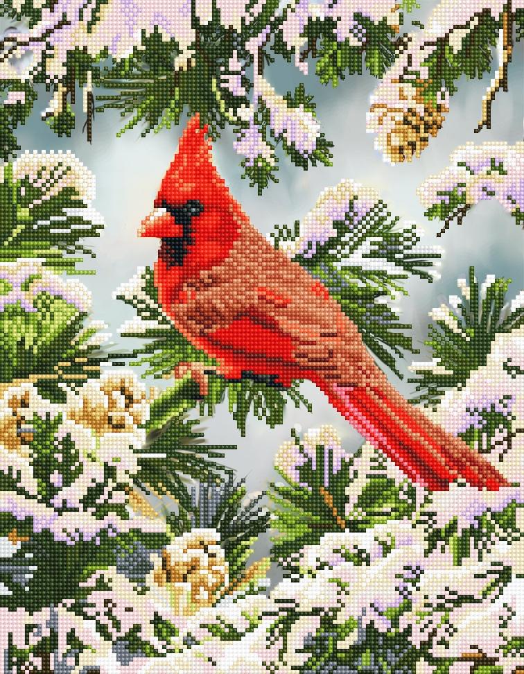 Diamond Dotz Diamond Embroidery Facet Art Kit 14.6X18.5-Good Fortune Cardinal