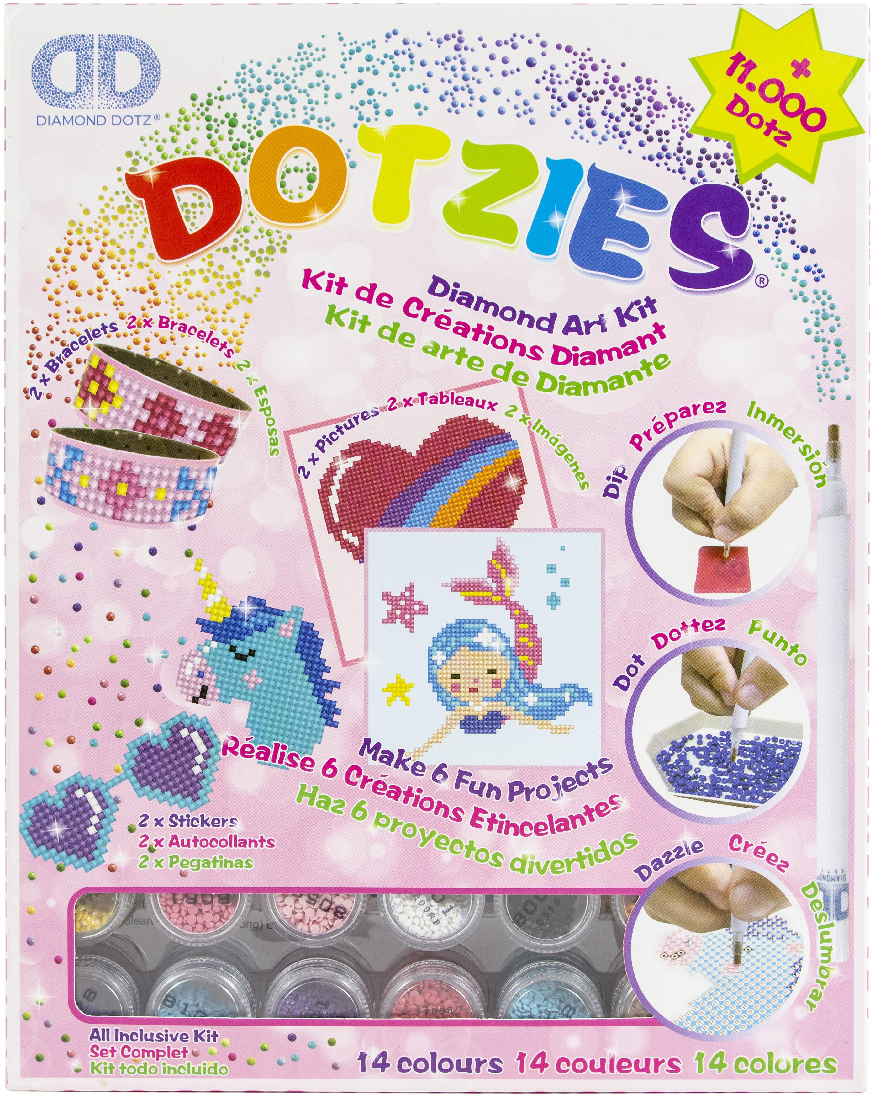 Diamond Dotz DOTZIES Variety Kit 6 Projects-Pink