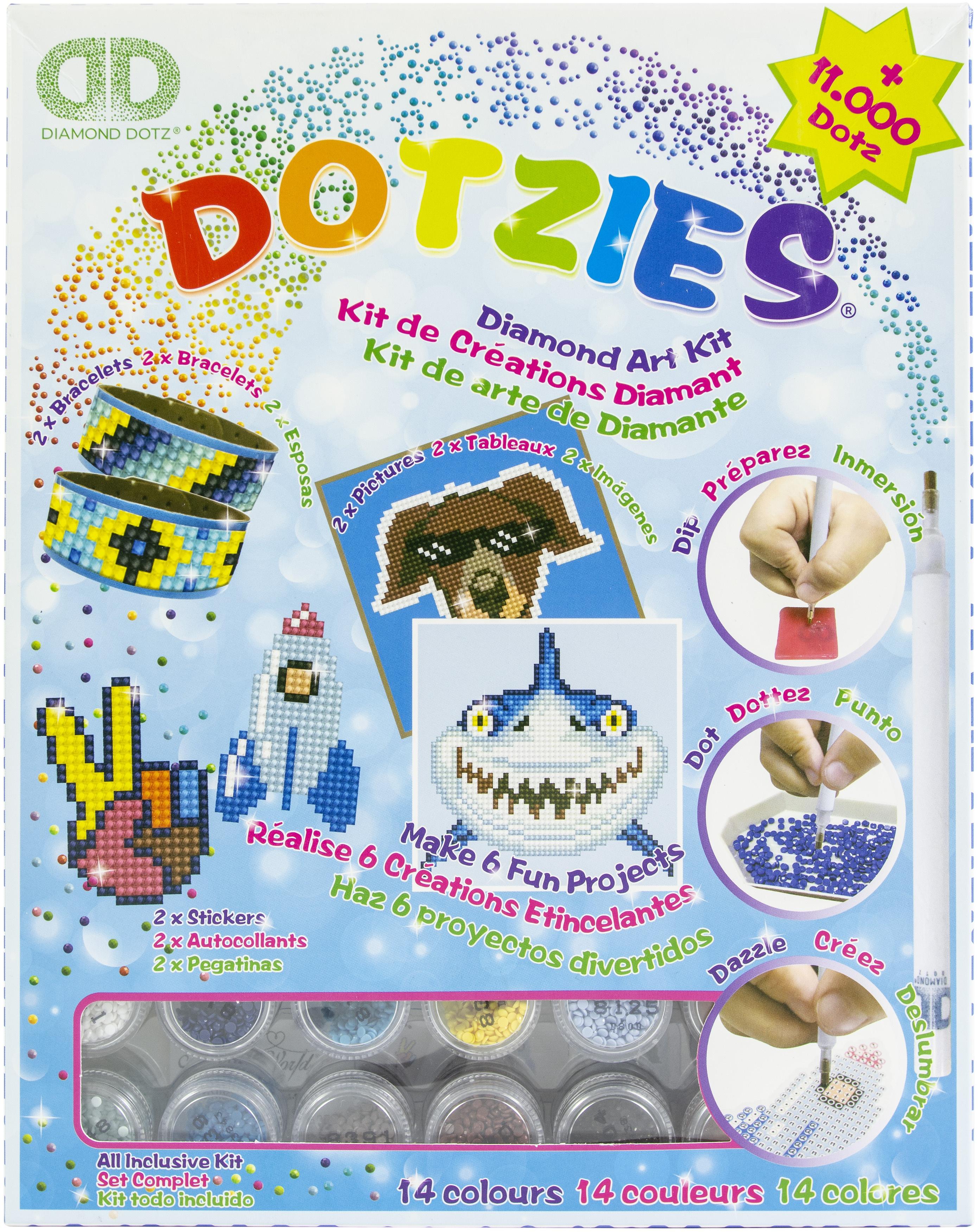 Diamond Dotz DOTZIES Variety Kit 6 Projects-Blue