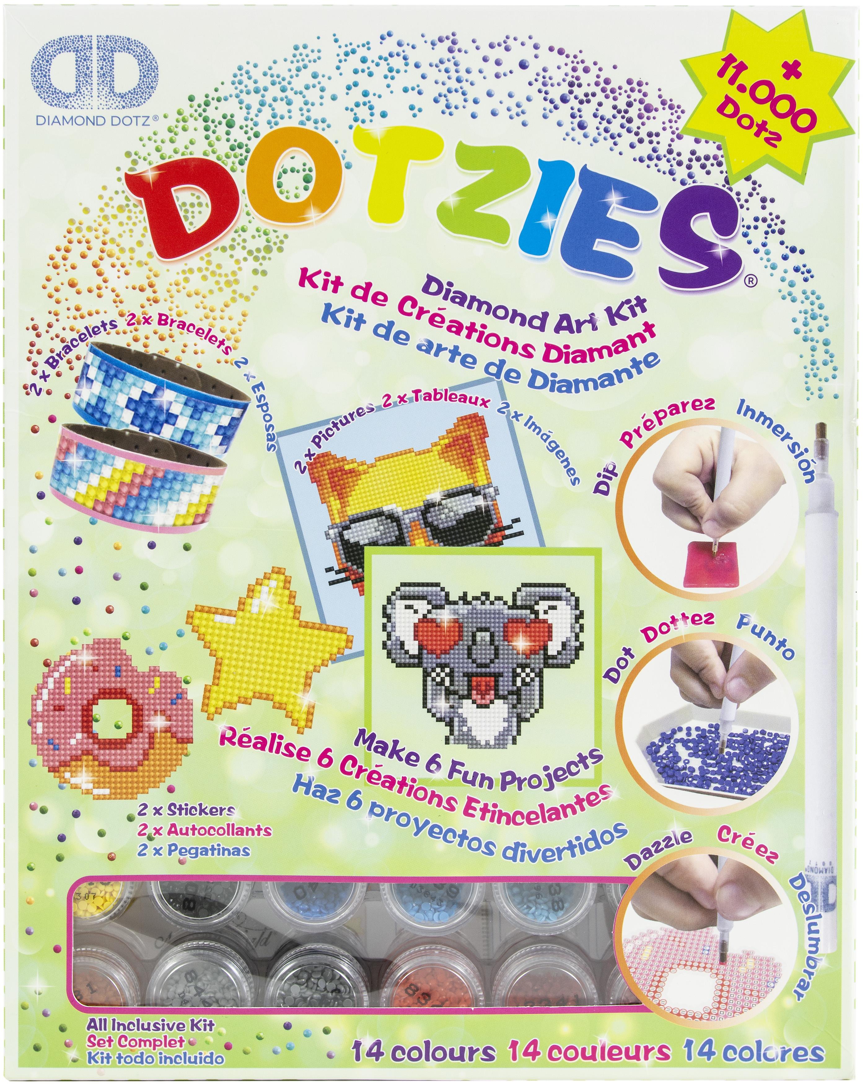 Diamond Dotz DOTZIES Variety Kit 6 Projects-Green