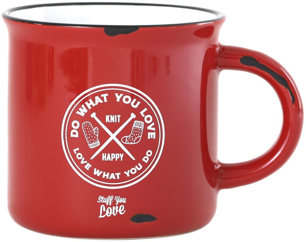 K1C2 Knit Happy Happy Camper Mug 15oz-Red