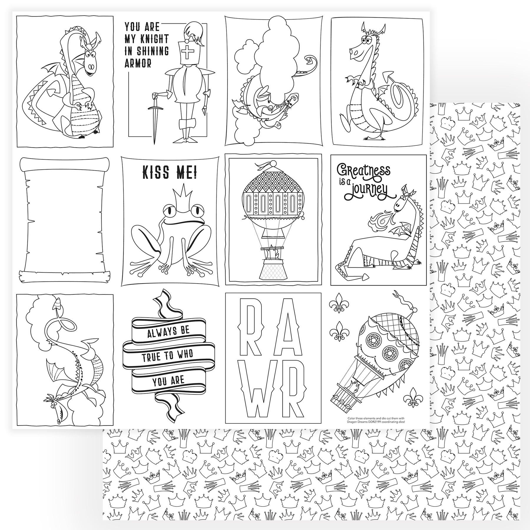 Dragon Dreams Double-Sided Cardstock 12X12-Color Me