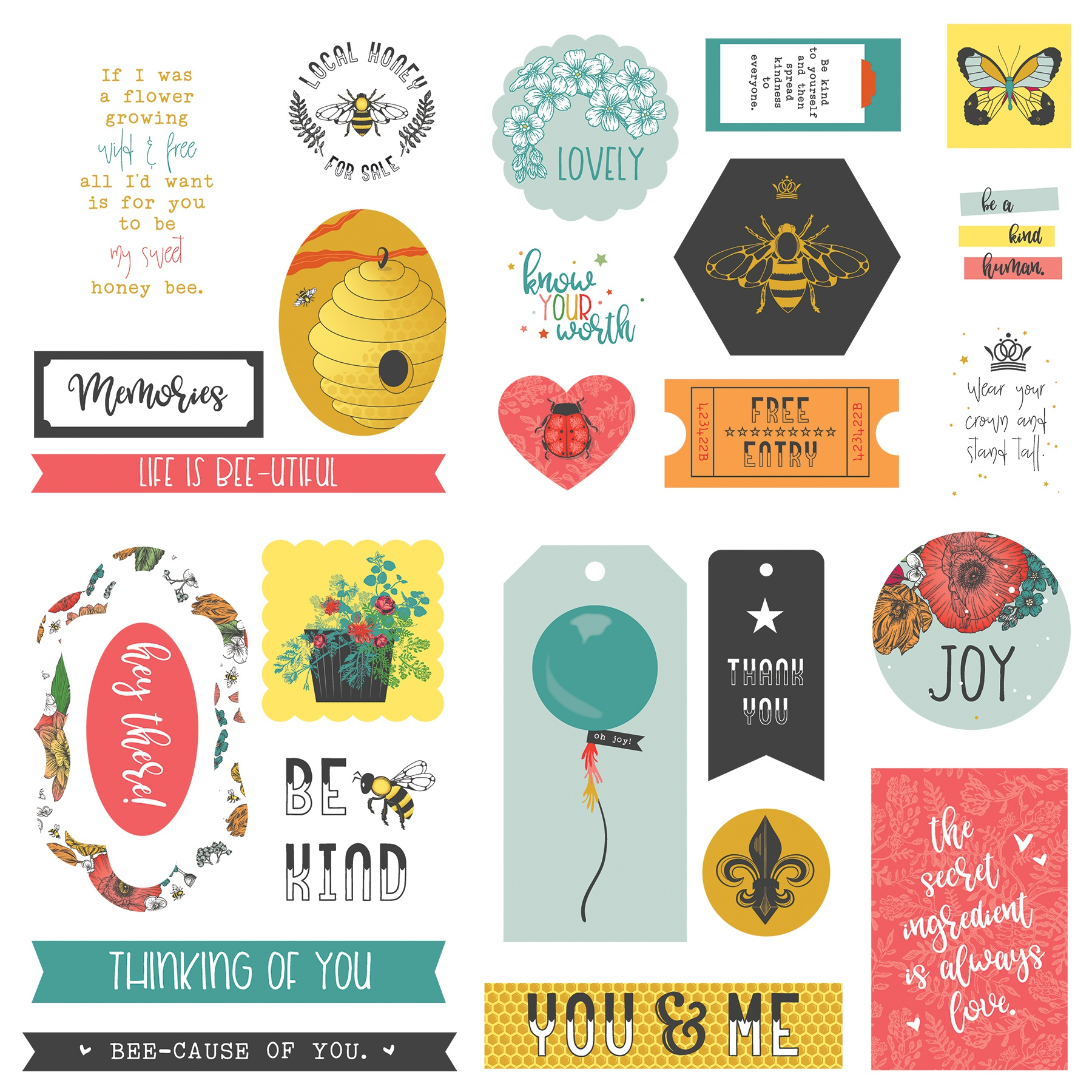 Wild Honey Ephemera Cardstock Die-Cuts-
